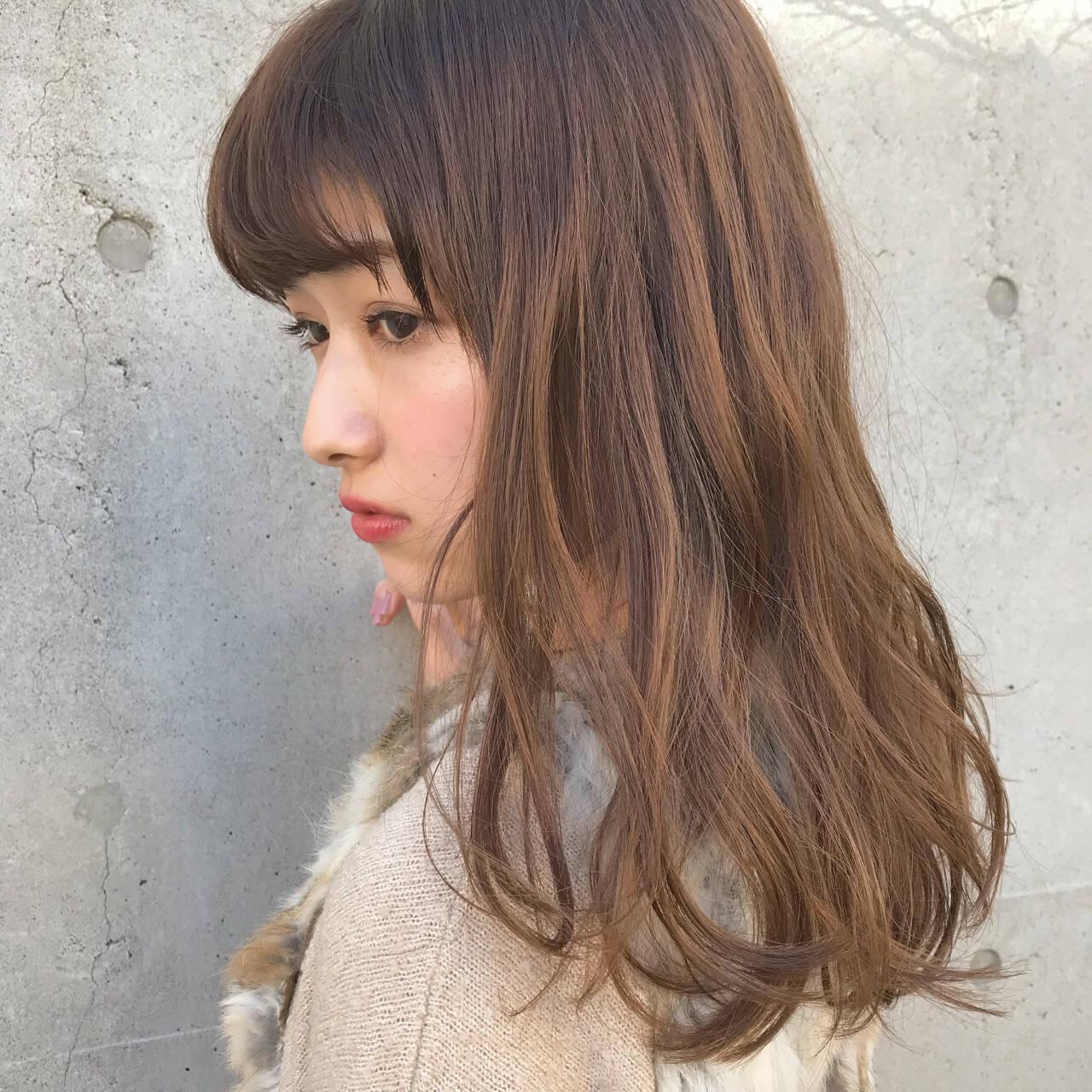 ラフ ウェーブ 抜け感 春ヘアスタイルや髪型の写真・画像