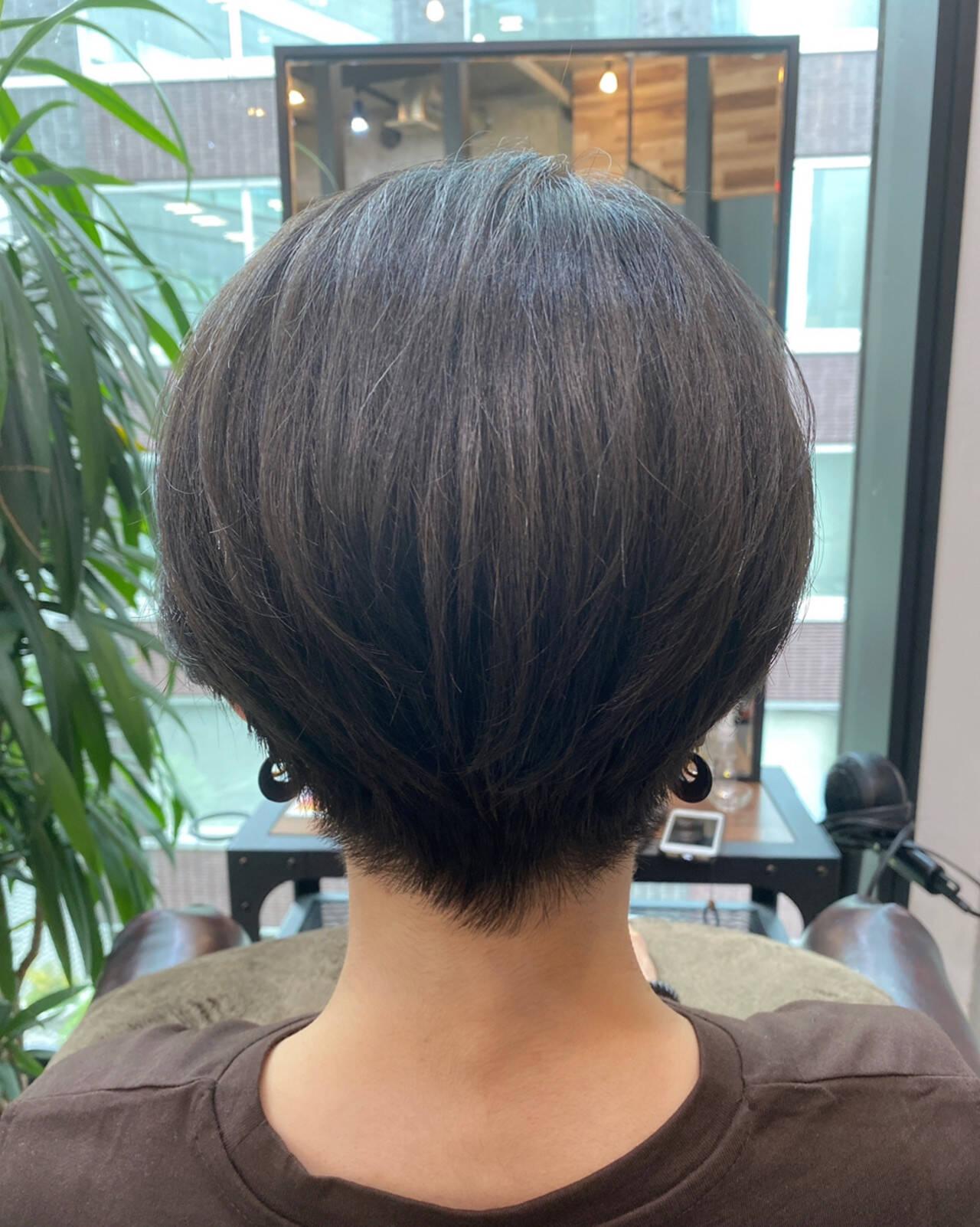 ショートヘア ショート 大人かわいい ミニボブヘアスタイルや髪型の写真・画像