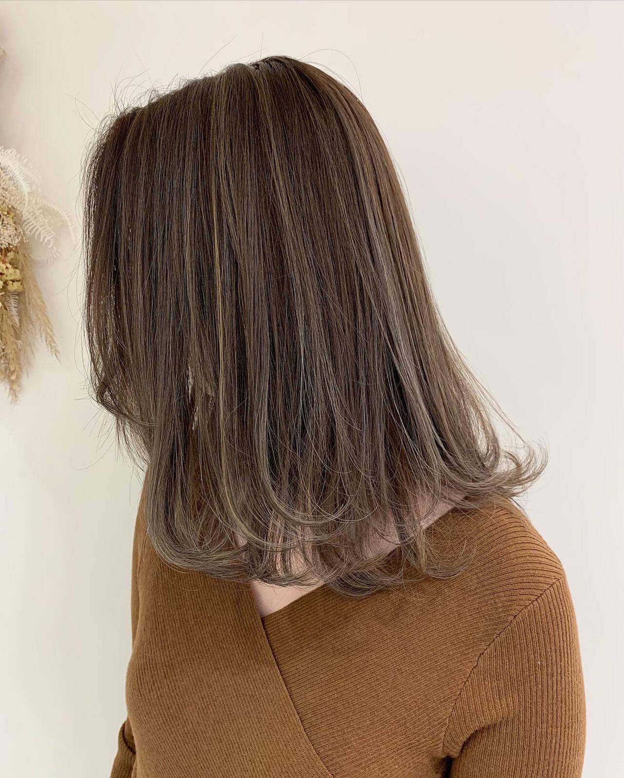 大人ハイライト ナチュラル コントラストハイライト ハイライトヘアスタイルや髪型の写真・画像