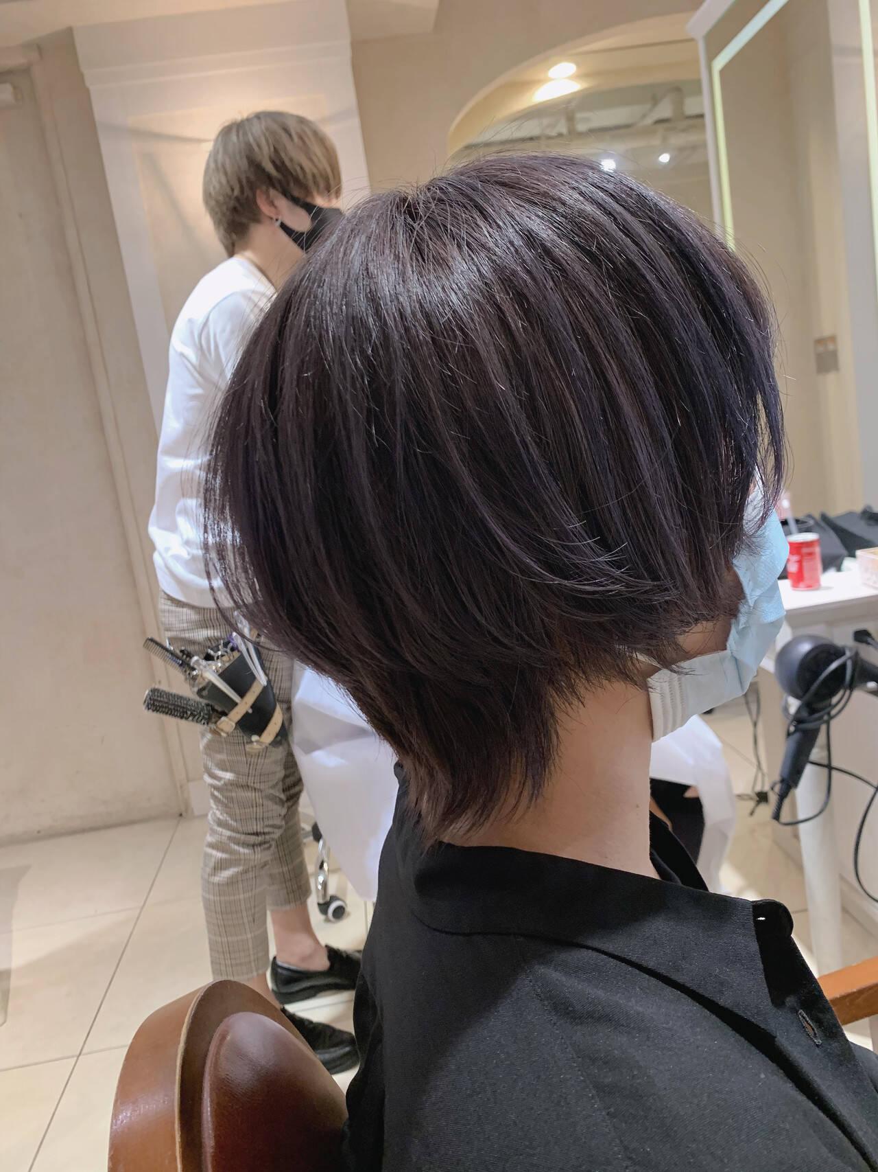 ストリート ショートヘア ショート マッシュウルフヘアスタイルや髪型の写真・画像