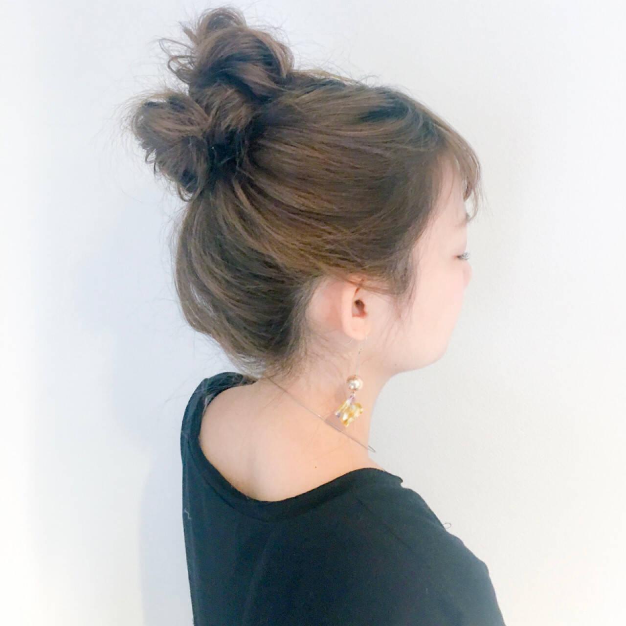 ルーズ 簡単ヘアアレンジ ヘアアレンジ デートヘアスタイルや髪型の写真・画像