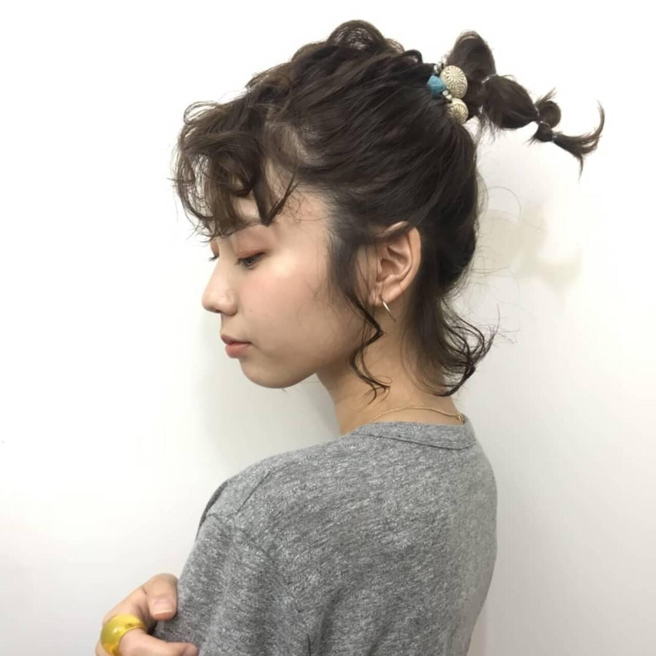ボブ 抜け感 大人かわいい ヘアアレンジヘアスタイルや髪型の写真・画像