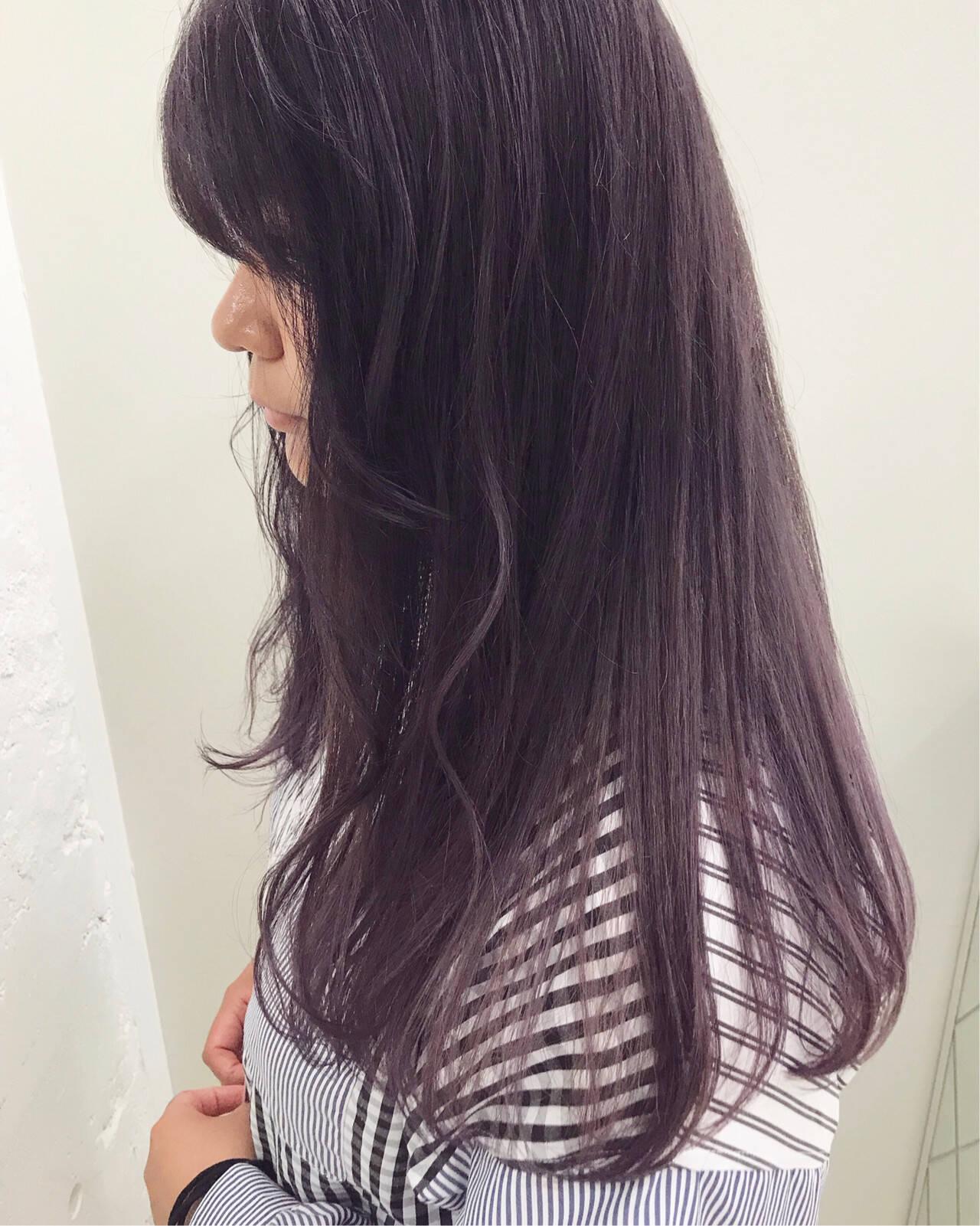 ピンクアッシュ ラベンダーアッシュ ガーリー ラベンダーヘアスタイルや髪型の写真・画像