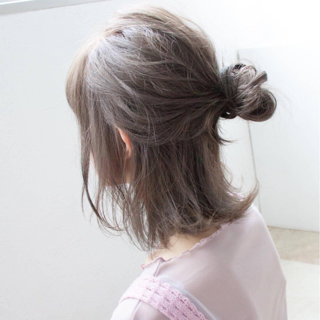 簡単ヘアアレンジ ゆるふわ ヘアアレンジ ナチュラルヘアスタイルや髪型の写真・画像