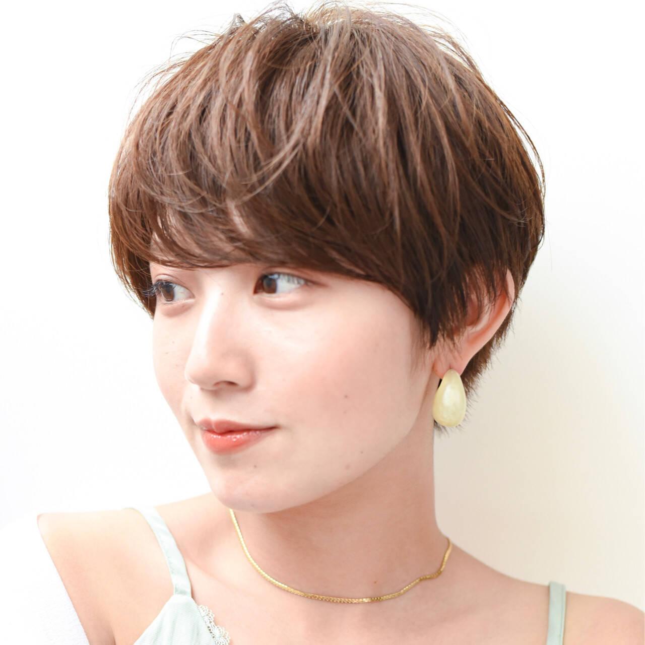 ショートヘア マッシュショート 大人ショート ショートヘアスタイルや髪型の写真・画像