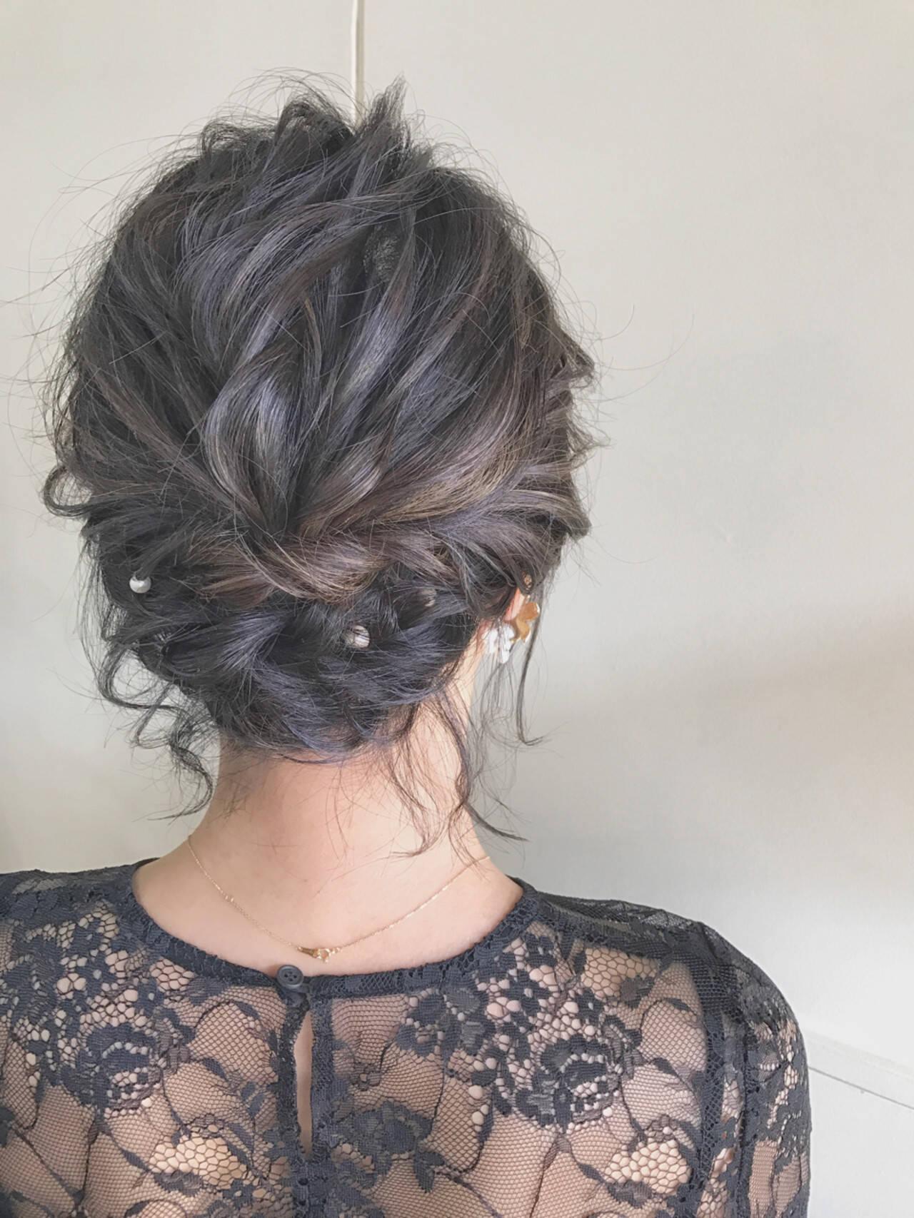 ナチュラル 涼しげ 色気 ヘアアレンジヘアスタイルや髪型の写真・画像