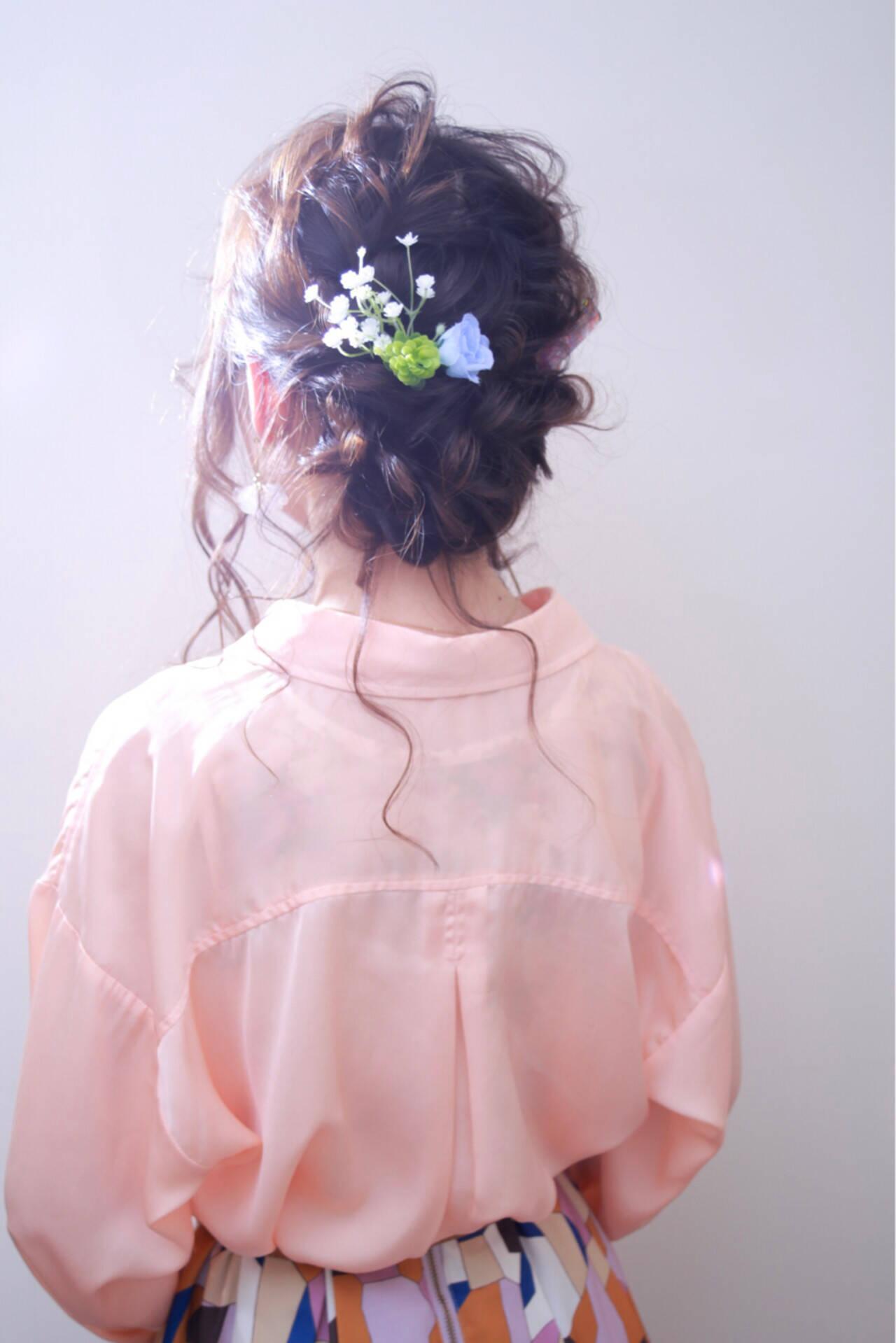 結婚式 ロング ガーリー 大人女子ヘアスタイルや髪型の写真・画像