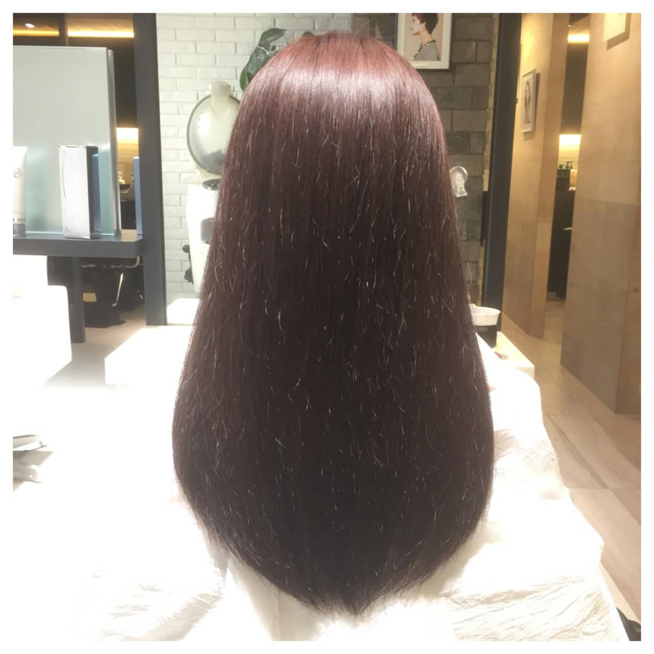 ガーリー ピンク ロング 春ヘアスタイルや髪型の写真・画像