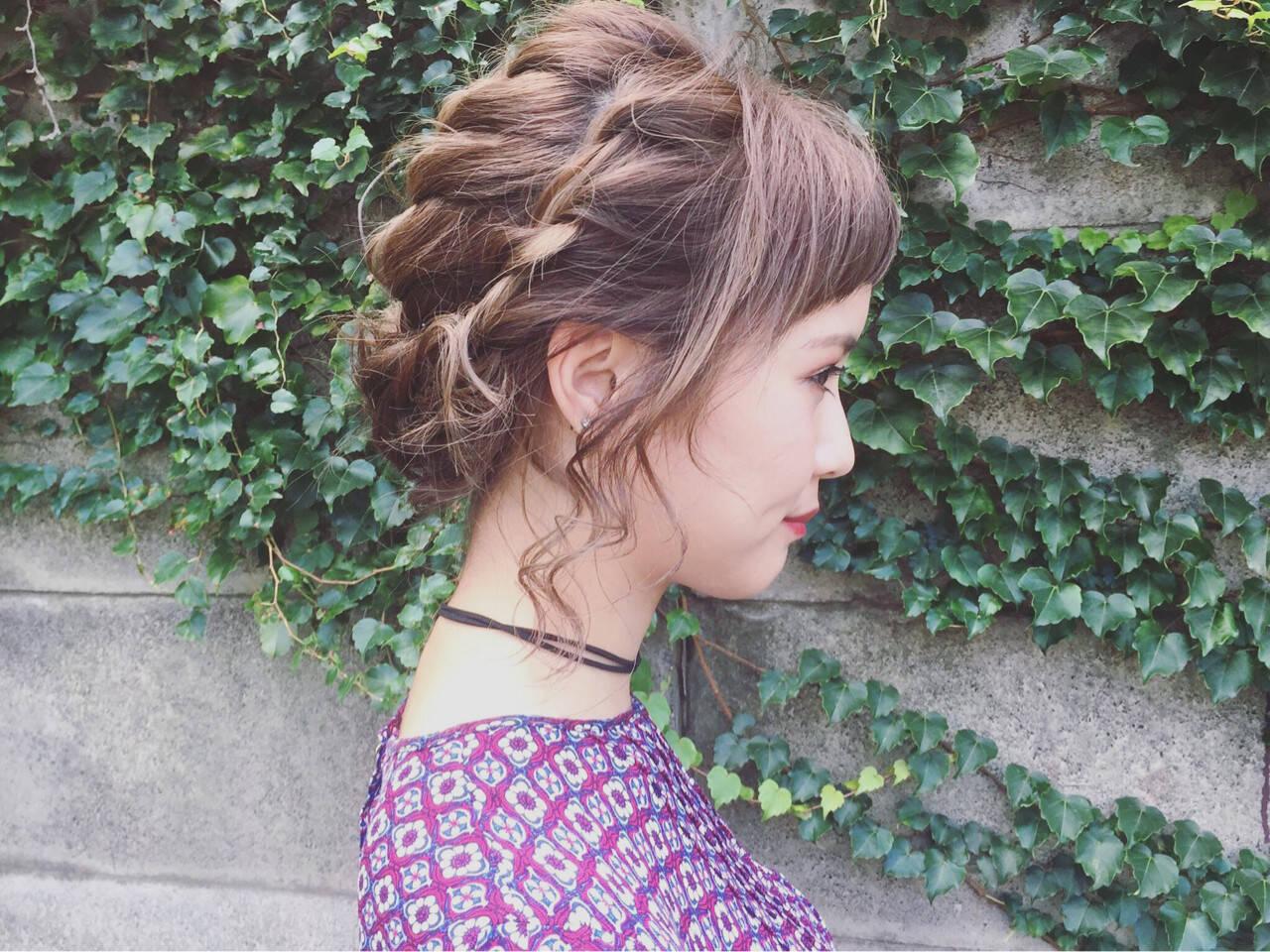 成人式 ストリート ヘアアレンジ アップスタイルヘアスタイルや髪型の写真・画像