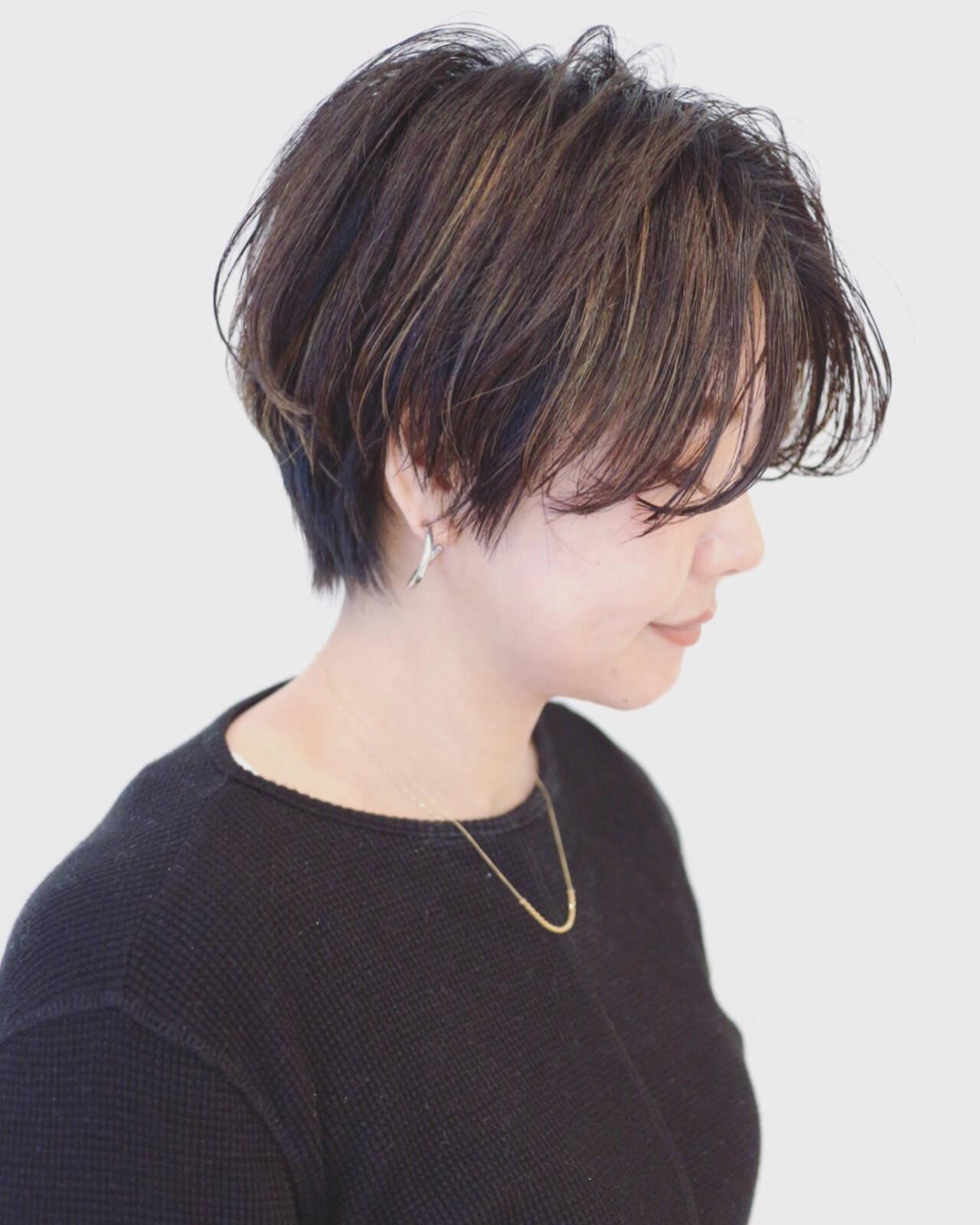 ストリート ブルーアッシュ 外国人風 暗髪ヘアスタイルや髪型の写真・画像