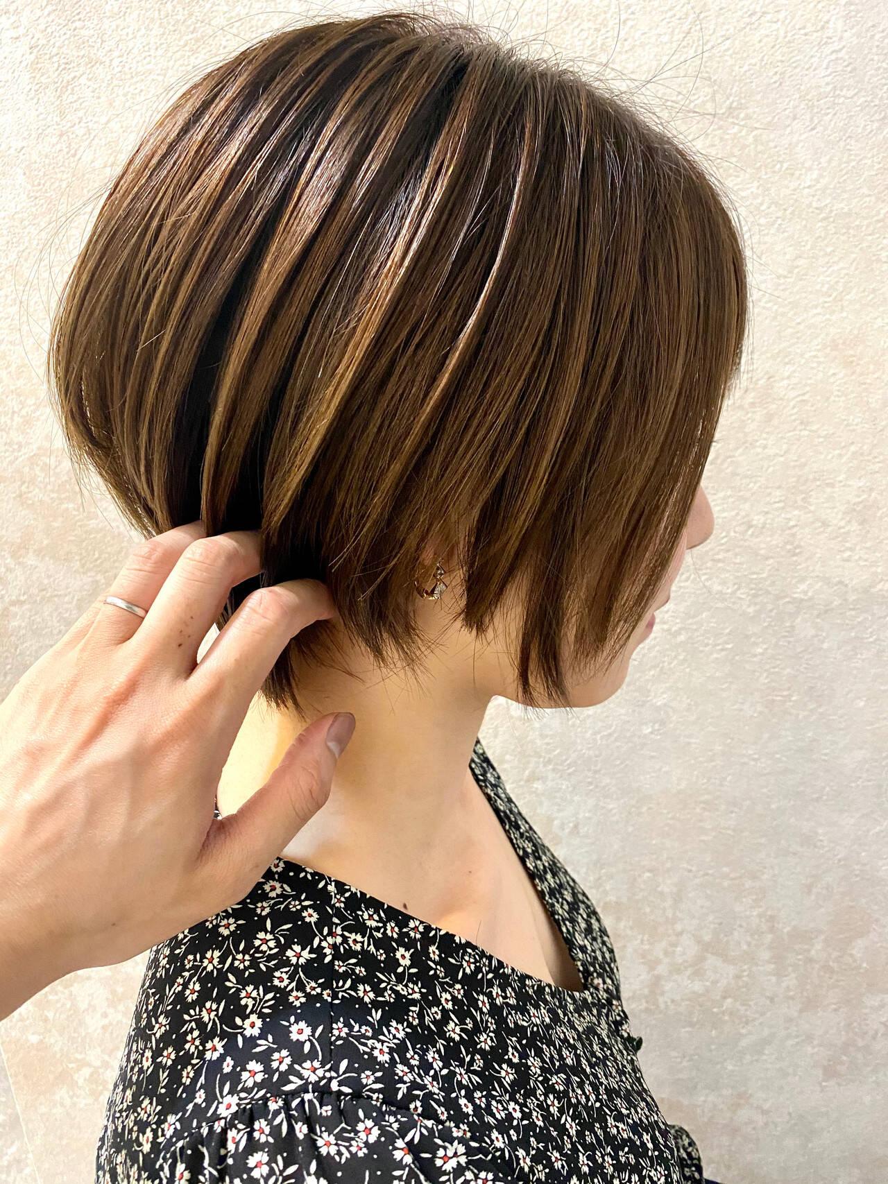 ショートヘア 束感 ショート ショートボブヘアスタイルや髪型の写真・画像