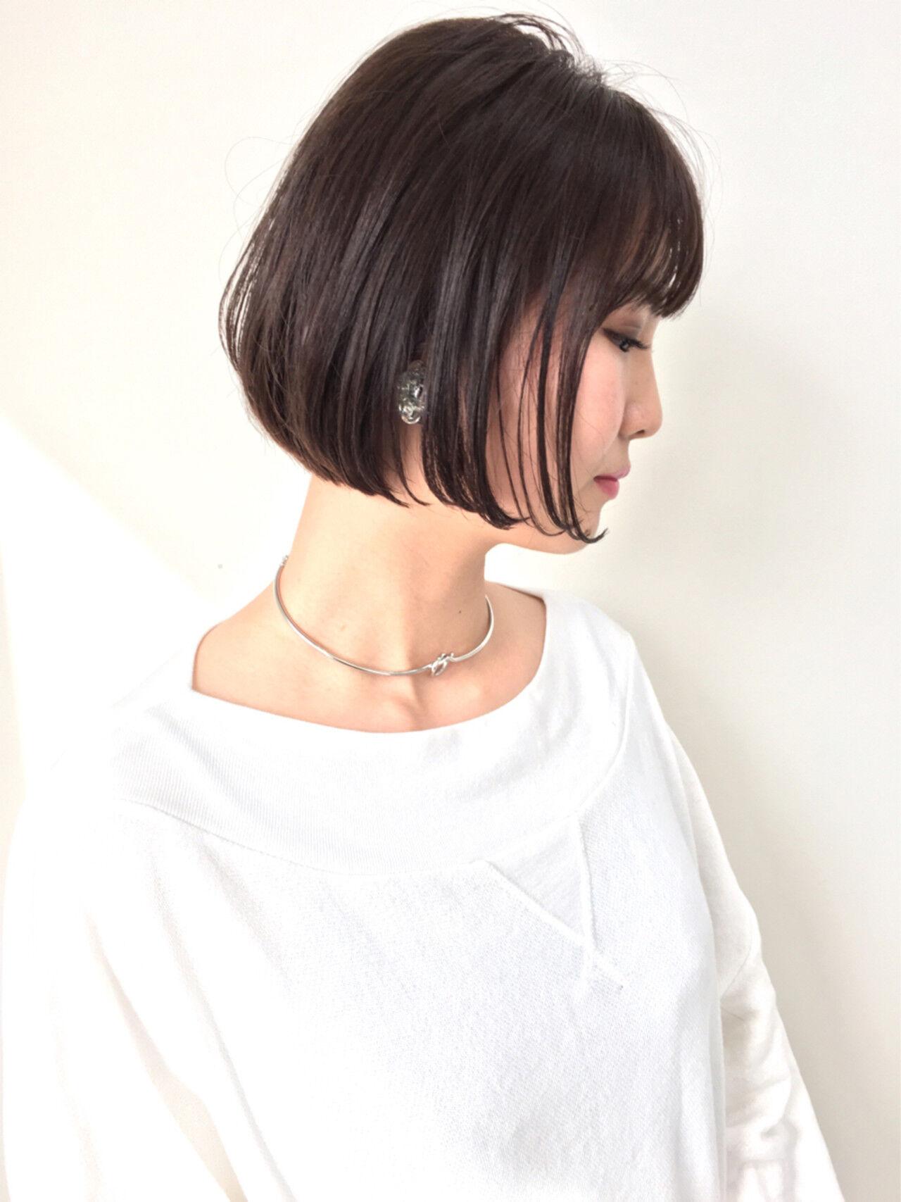 アッシュベージュ ボブ 色気 ショートヘアスタイルや髪型の写真・画像