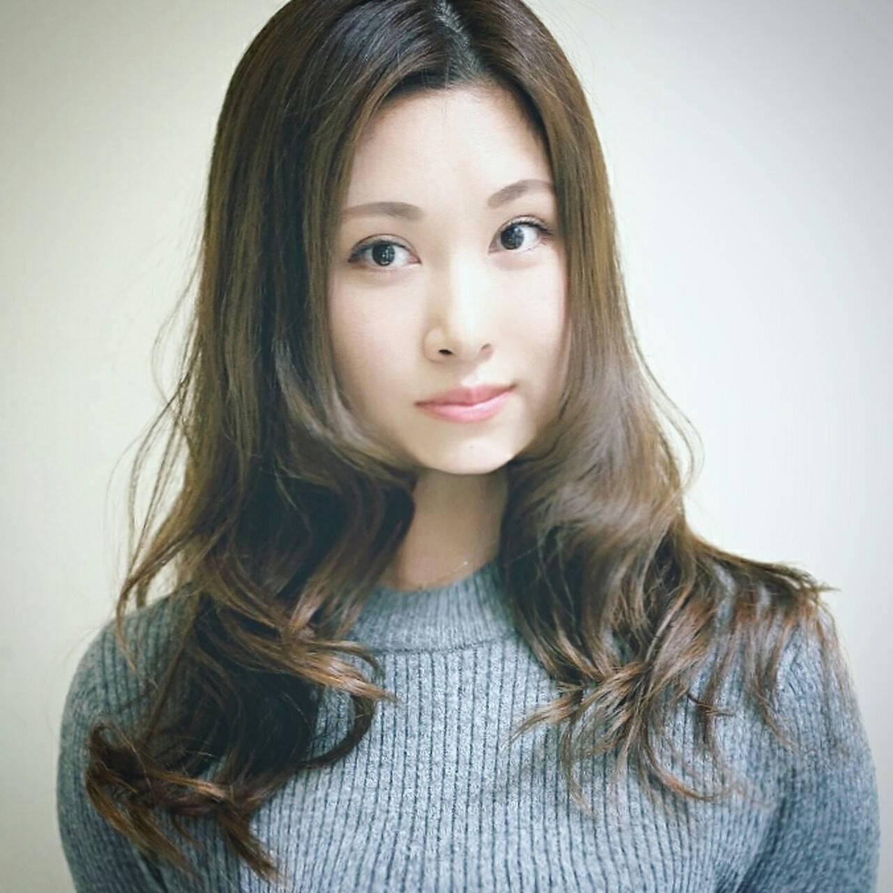 小顔 大人女子 大人かわいい ハイライトヘアスタイルや髪型の写真・画像