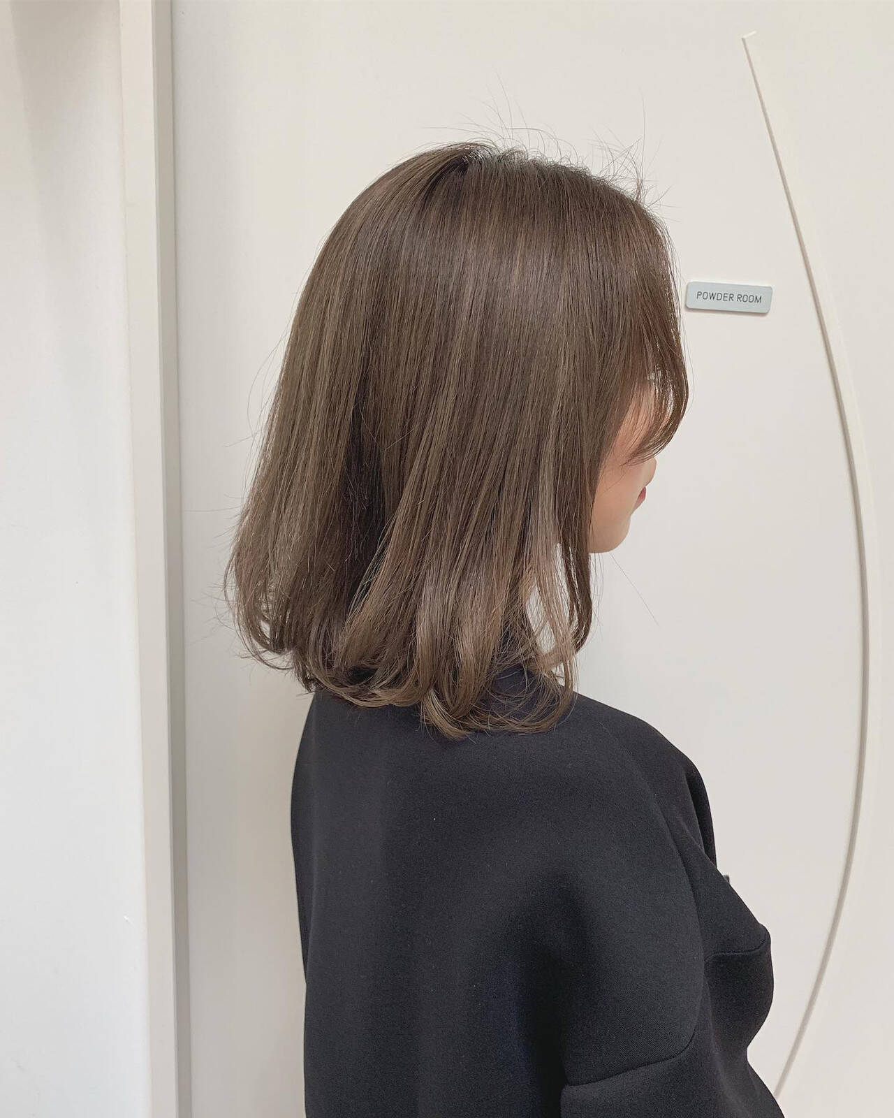 透け感 ハイトーンカラー ボブ ダブルカラーヘアスタイルや髪型の写真・画像