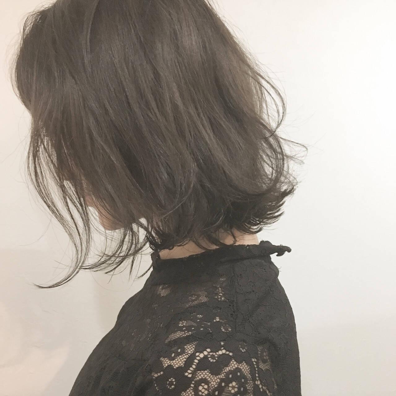 大人女子 ボブ ショート ナチュラルヘアスタイルや髪型の写真・画像