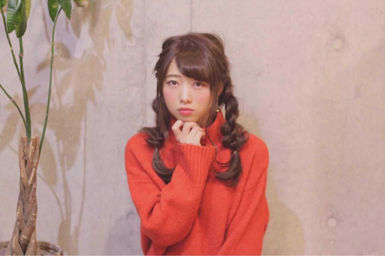 四つ編み ナチュラル ヘアアレンジ ロングヘアスタイルや髪型の写真・画像