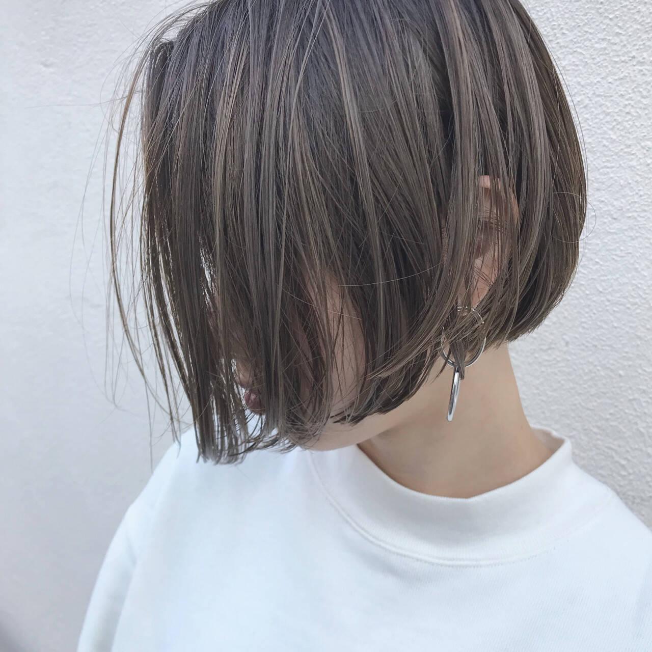 こなれ感 切りっぱなし ハイライト ナチュラルヘアスタイルや髪型の写真・画像