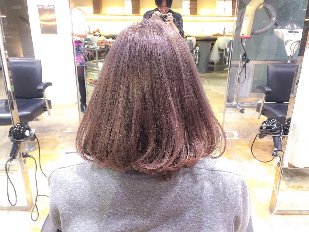 ボブ 秋 ストリート ロブヘアスタイルや髪型の写真・画像
