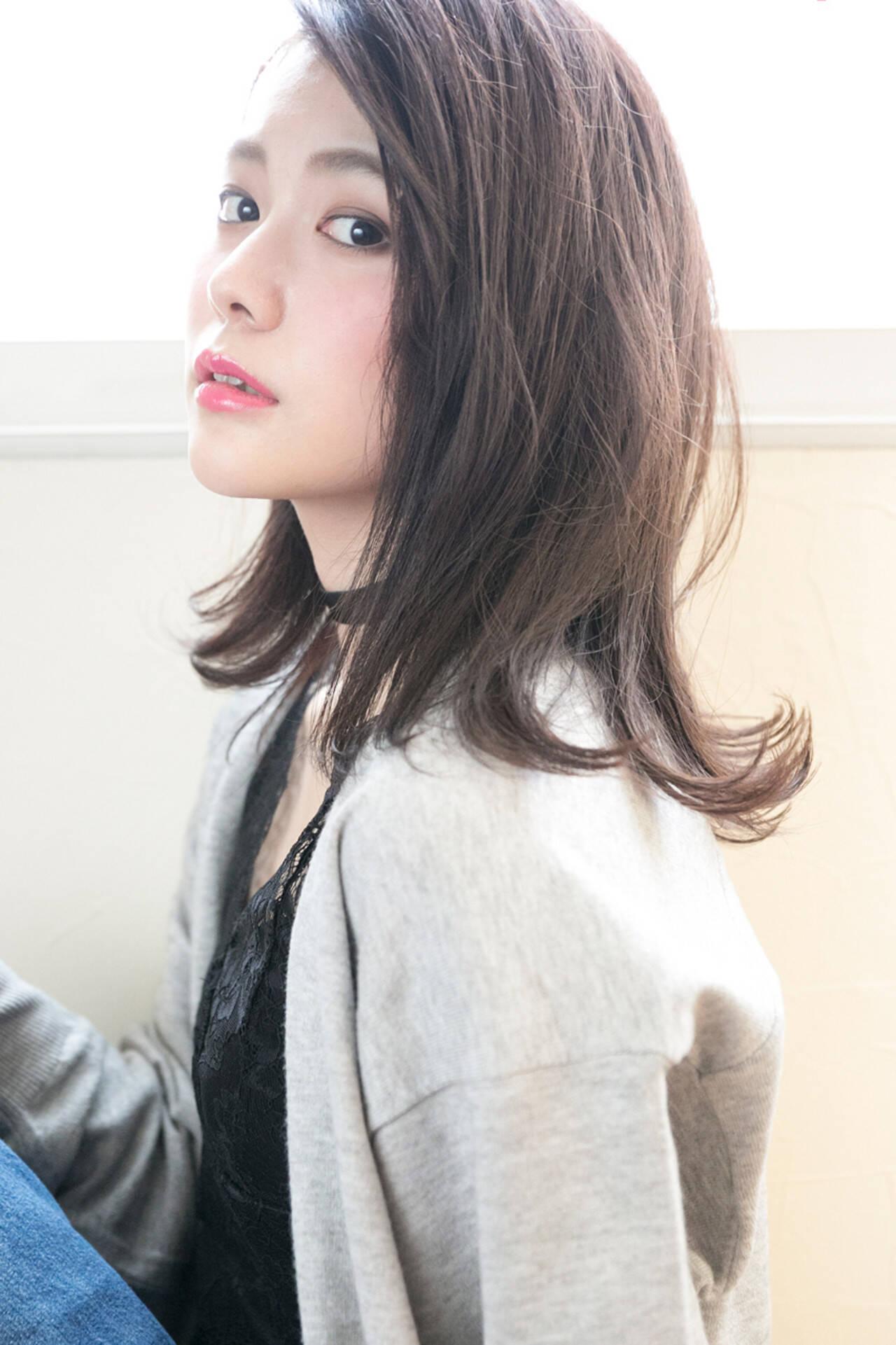前髪あり ナチュラル ニュアンス ボブヘアスタイルや髪型の写真・画像