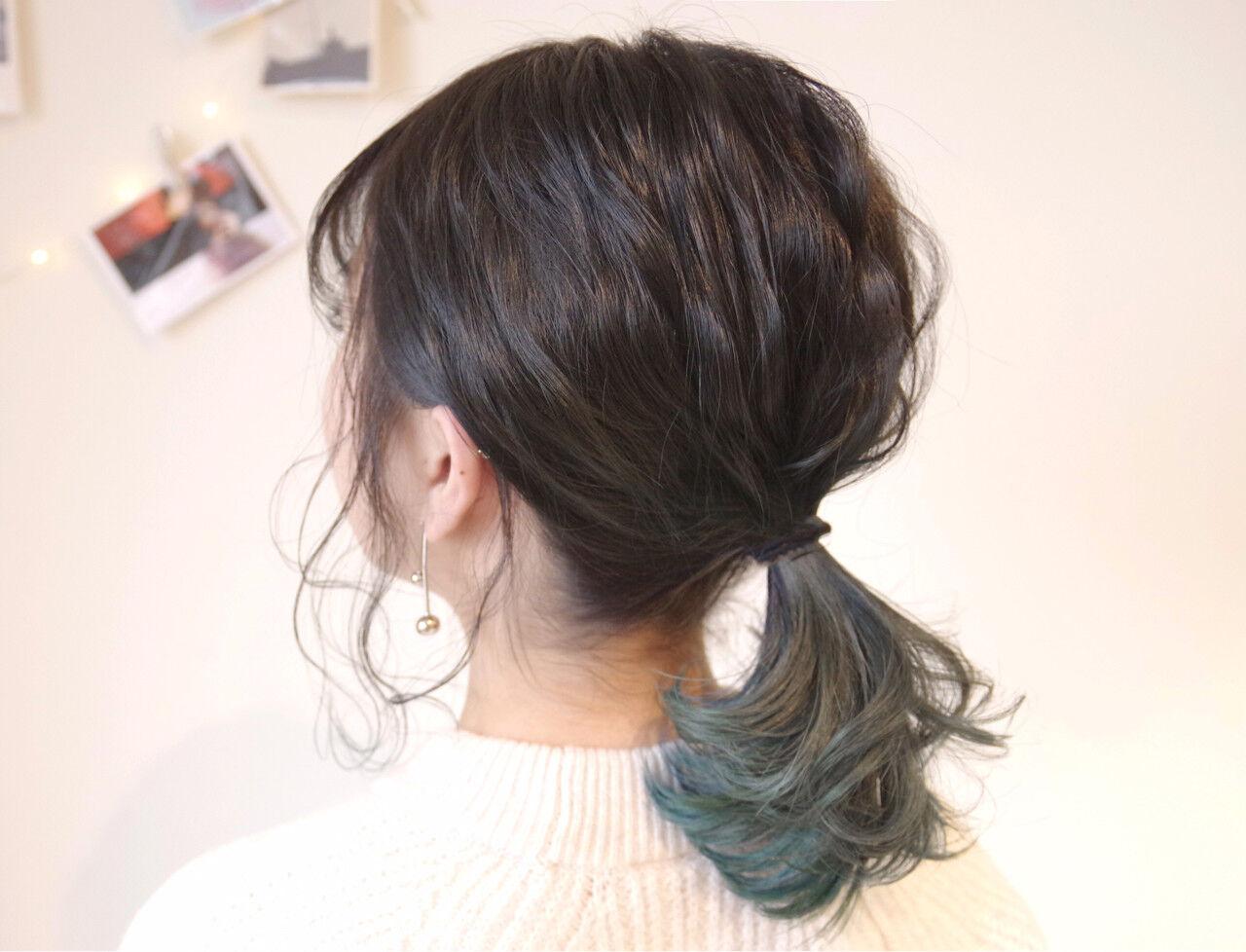 ヘアアレンジ 簡単ヘアアレンジ ミディアム オフィスヘアスタイルや髪型の写真・画像