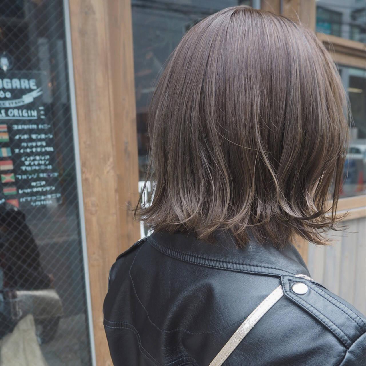 ボブ インナーカラー 透明感 ストリートヘアスタイルや髪型の写真・画像