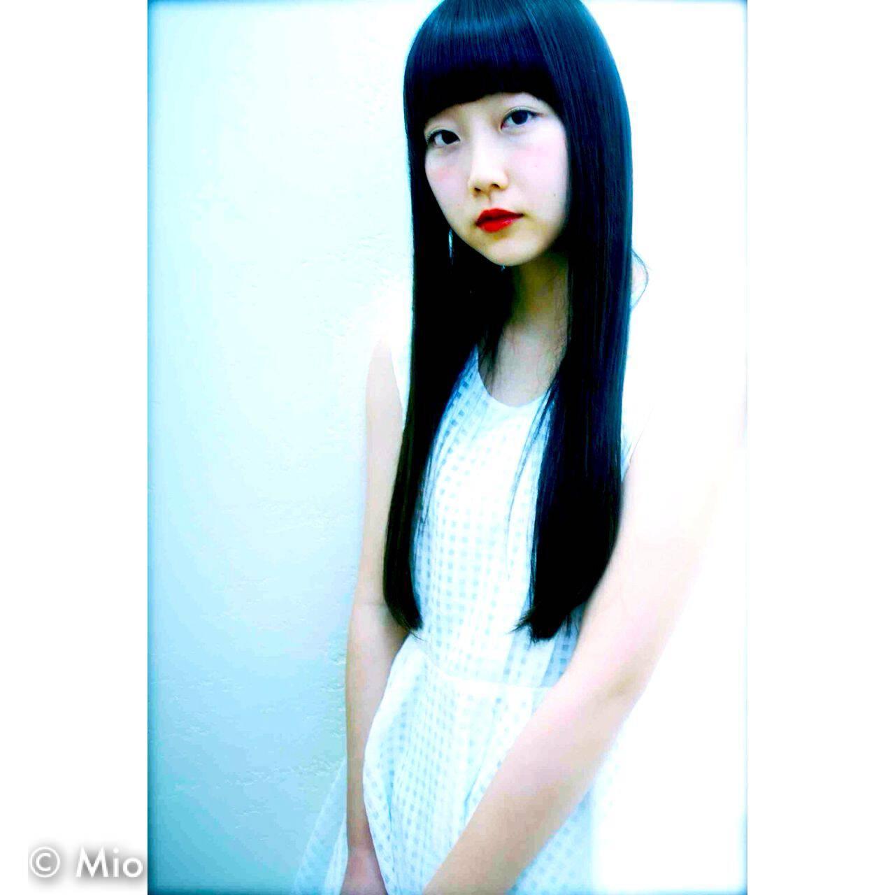 ナチュラル 春 ロング パンクヘアスタイルや髪型の写真・画像