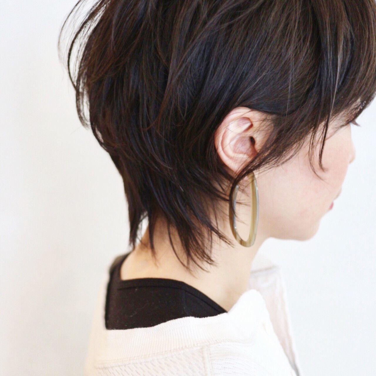 ストリート ウルフカット ショート ベリーショートヘアスタイルや髪型の写真・画像