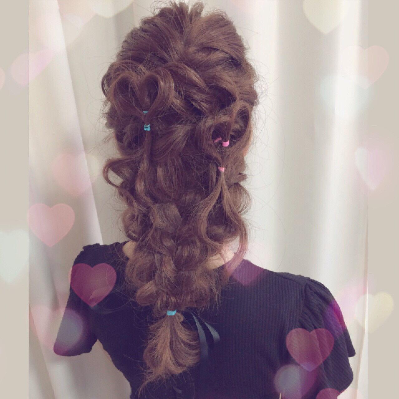グラデーションカラー ショート 簡単ヘアアレンジ ゆるふわヘアスタイルや髪型の写真・画像