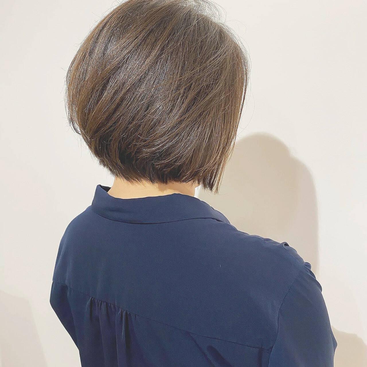 ショートボブ ハンサムショート ショート 大人かわいいヘアスタイルや髪型の写真・画像