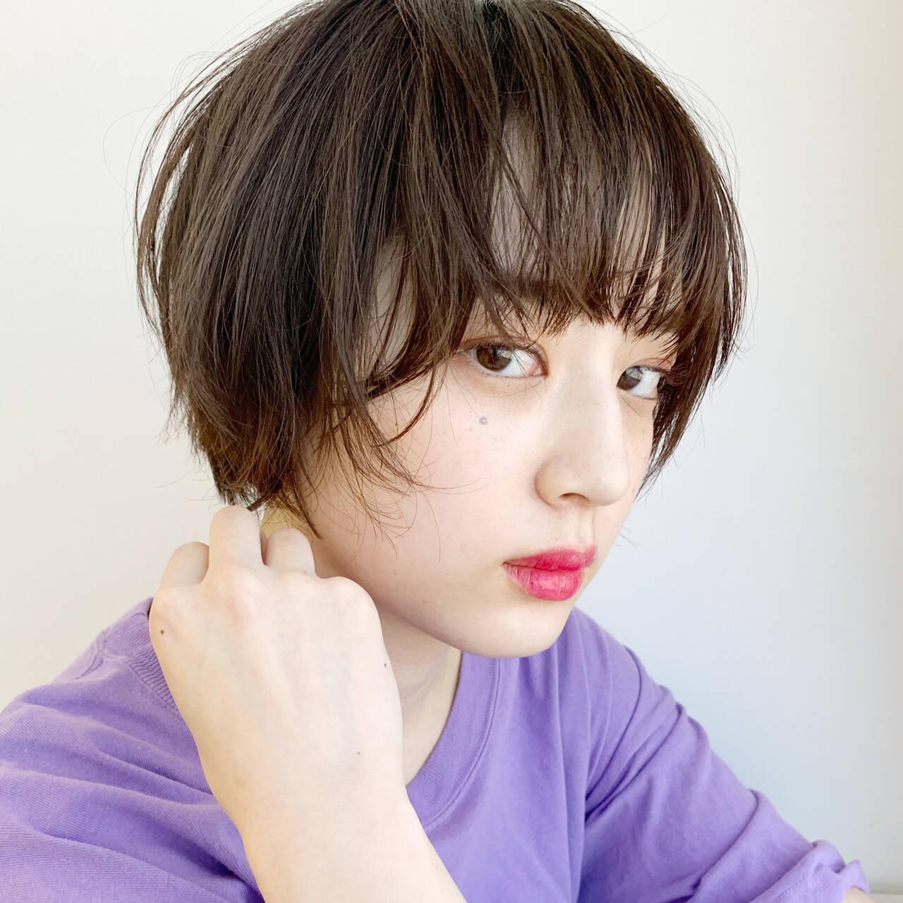 ナチュラル マッシュショート アッシュ 大人かわいいヘアスタイルや髪型の写真・画像