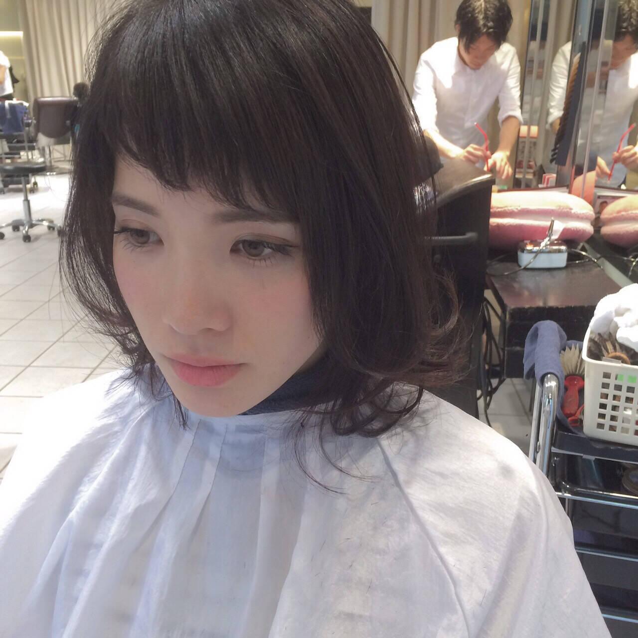 ナチュラル オン眉 色気 抜け感ヘアスタイルや髪型の写真・画像