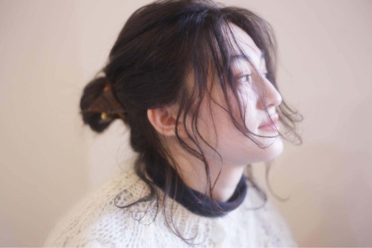 お団子 ヘアアレンジ ルーズ 大人女子ヘアスタイルや髪型の写真・画像