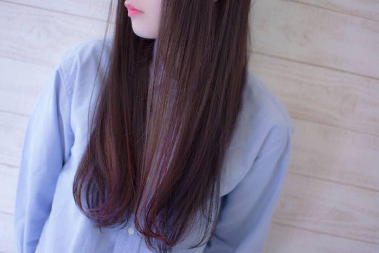 モード ピンク グラデーションカラー レッドヘアスタイルや髪型の写真・画像