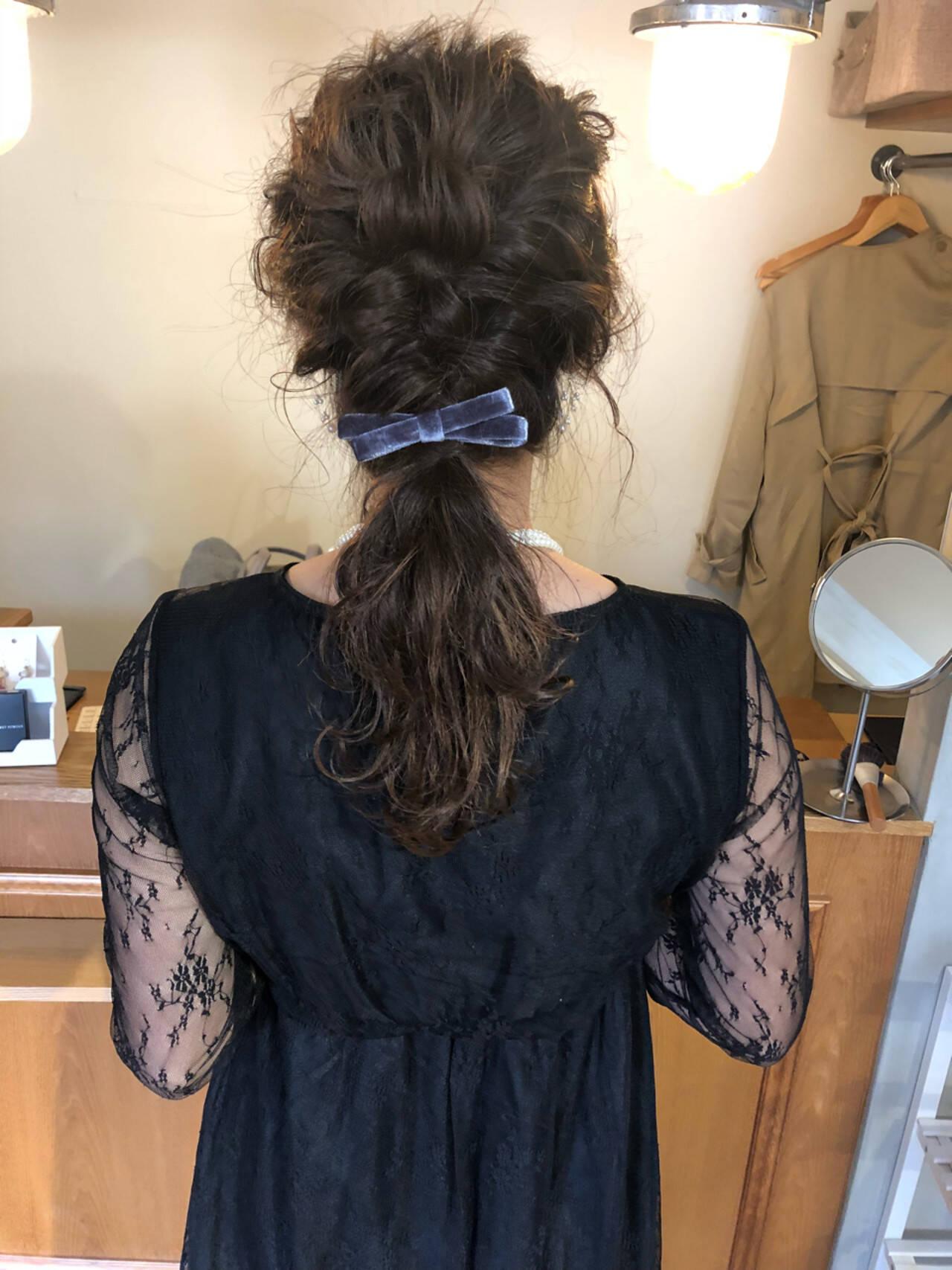 ゆるふわ 結婚式 ガーリー ウェーブヘアスタイルや髪型の写真・画像