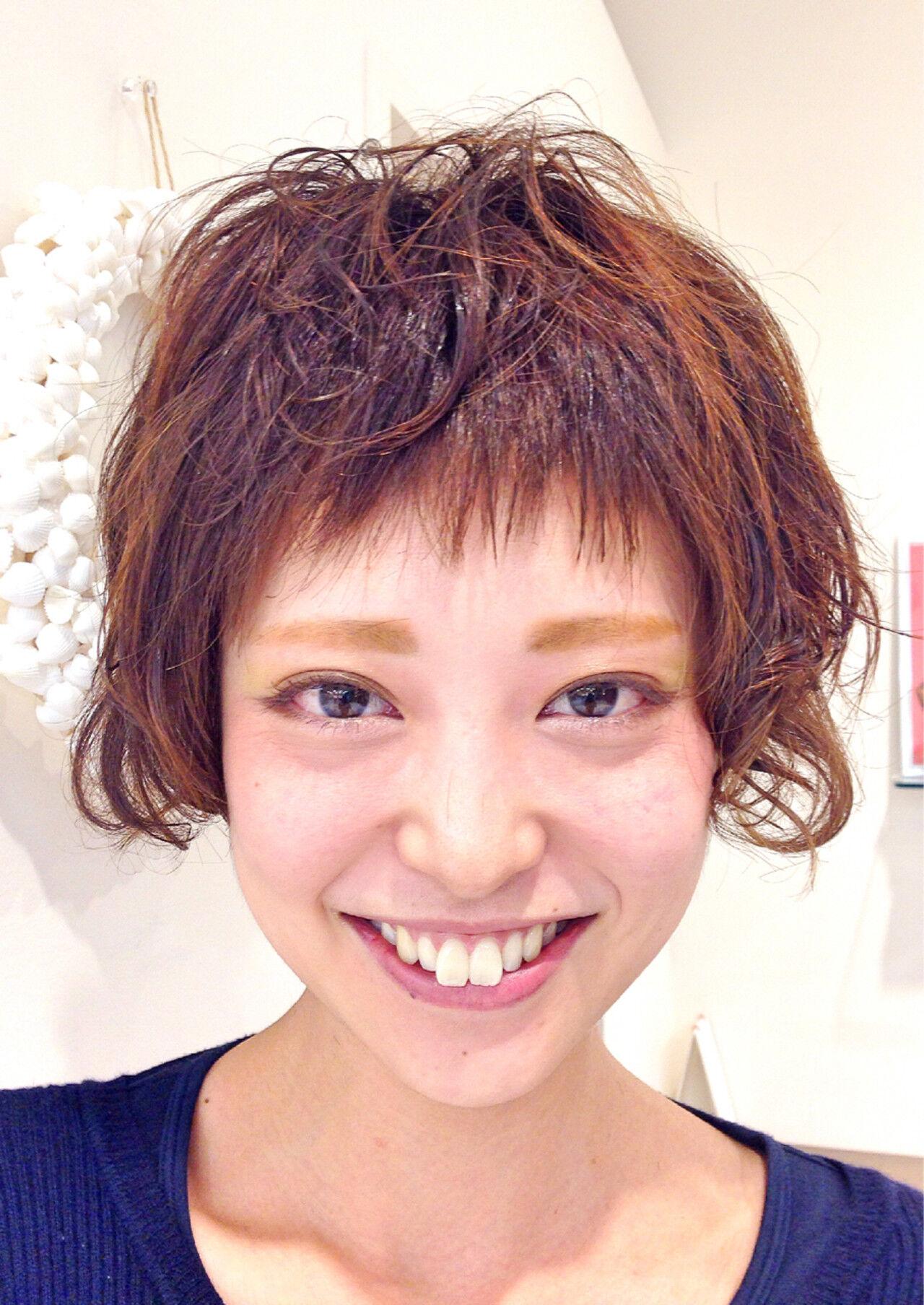 ストリート 前髪あり ショートバング ショートヘアスタイルや髪型の写真・画像