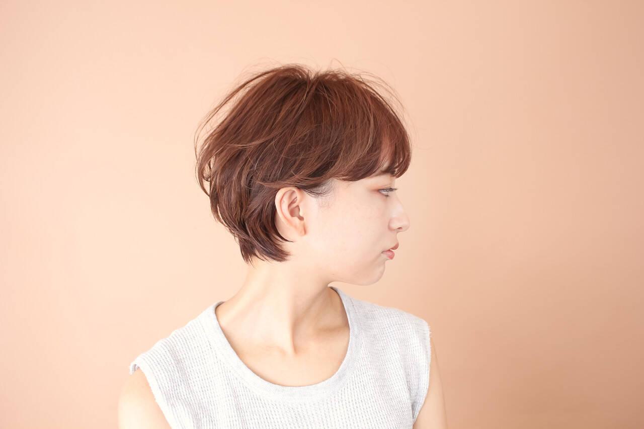 ショートボブ ショート 前髪あり ゆるふわヘアスタイルや髪型の写真・画像