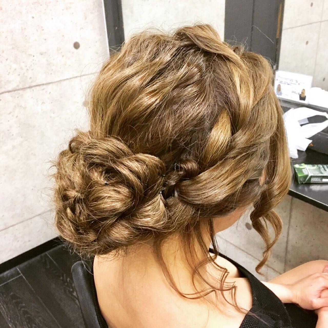 ロング 成人式 エレガント 結婚式ヘアスタイルや髪型の写真・画像