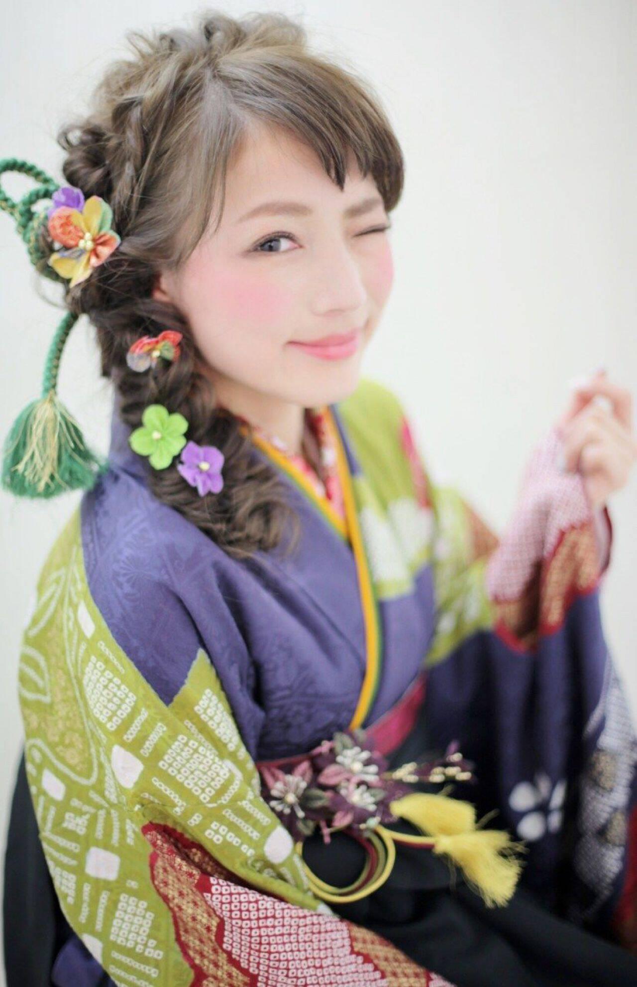 ヘアアレンジ 編み込み コンサバ 謝恩会ヘアスタイルや髪型の写真・画像