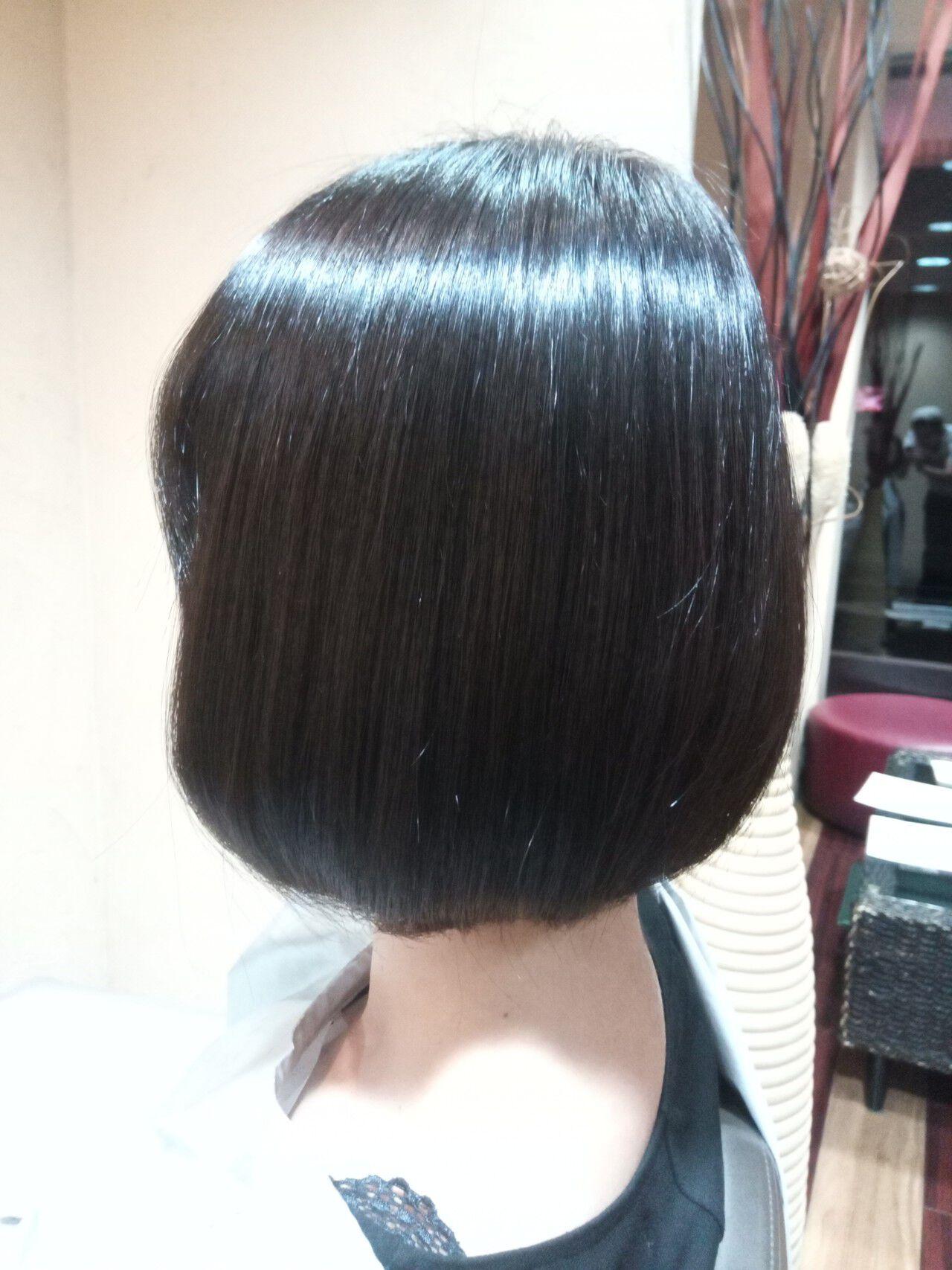 トレンド 縮毛矯正 艶髪 エレガントヘアスタイルや髪型の写真・画像