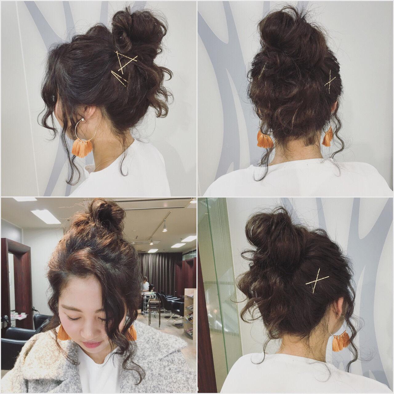 ショート ゆるふわ ヘアアレンジ 外国人風ヘアスタイルや髪型の写真・画像