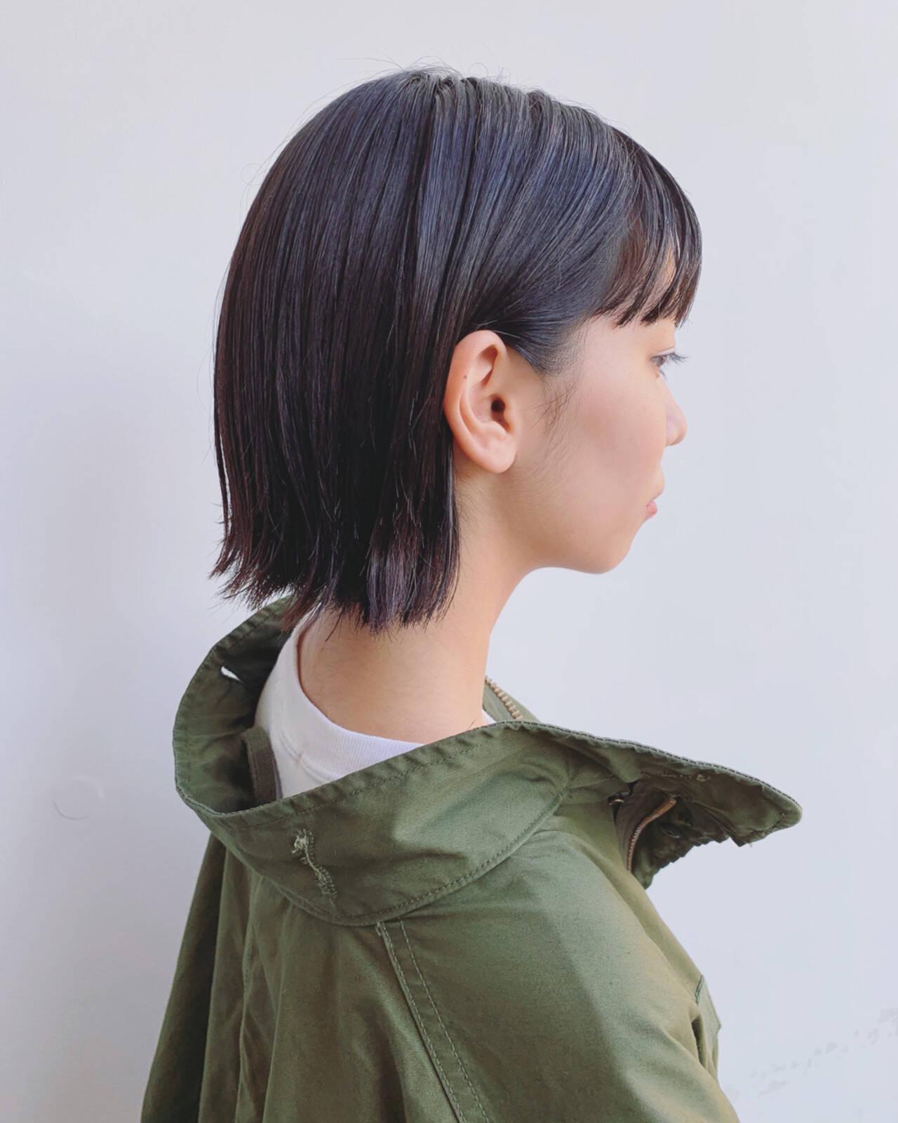 暗髪 透明感 外国人風 ナチュラルヘアスタイルや髪型の写真・画像