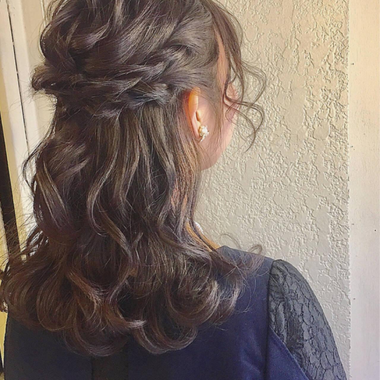 簡単ヘアアレンジ ショート 結婚式 ミディアムヘアスタイルや髪型の写真・画像