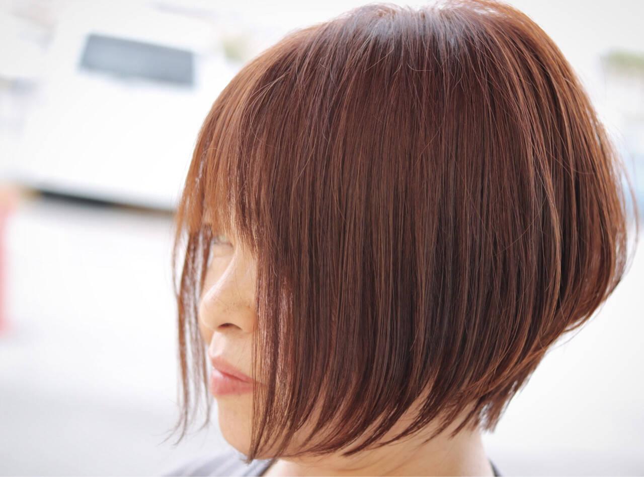 ショート ニュアンス ボブ エアリーヘアスタイルや髪型の写真・画像