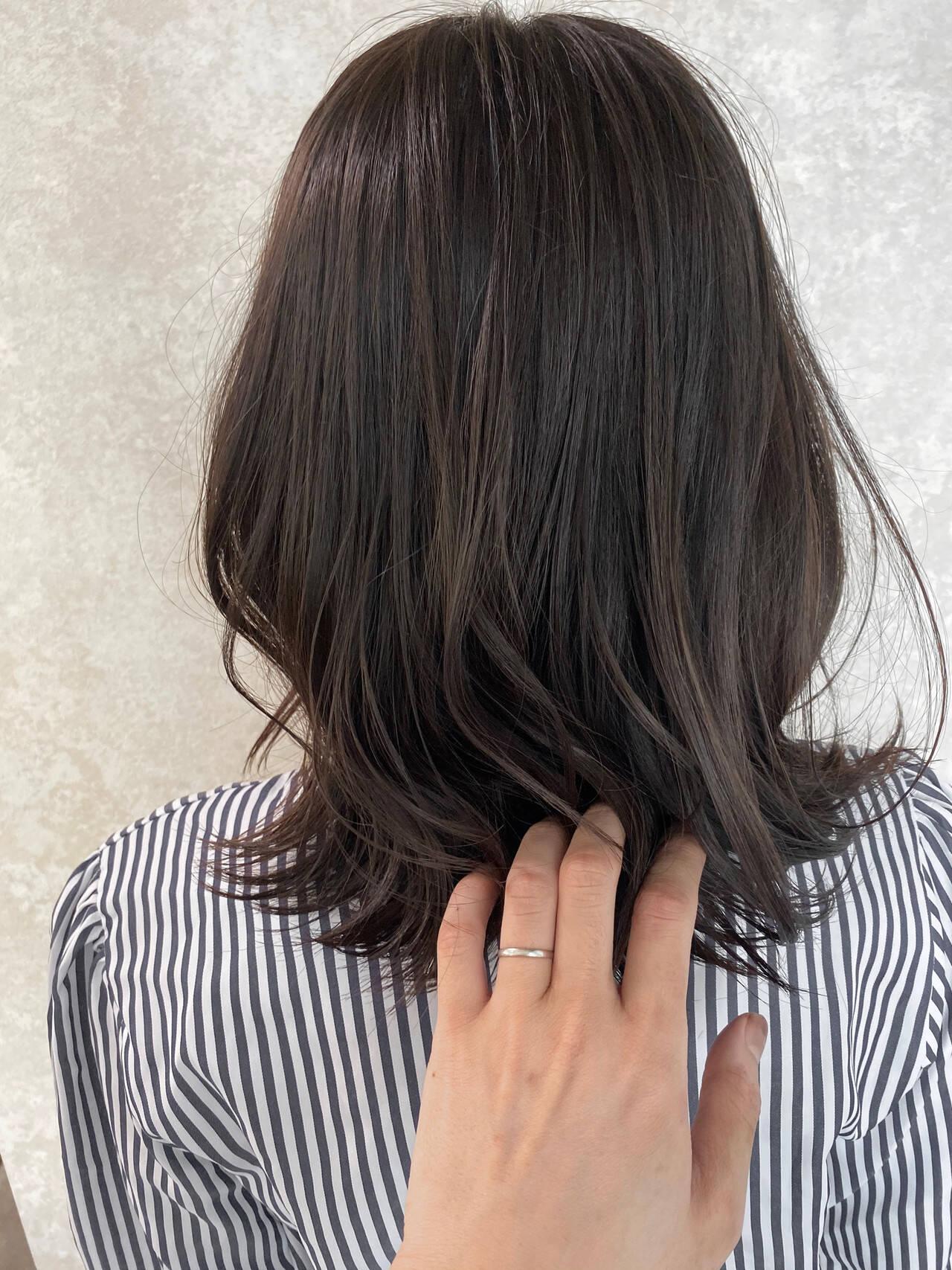 外ハネ ナチュラル 大人かわいい N.オイルヘアスタイルや髪型の写真・画像