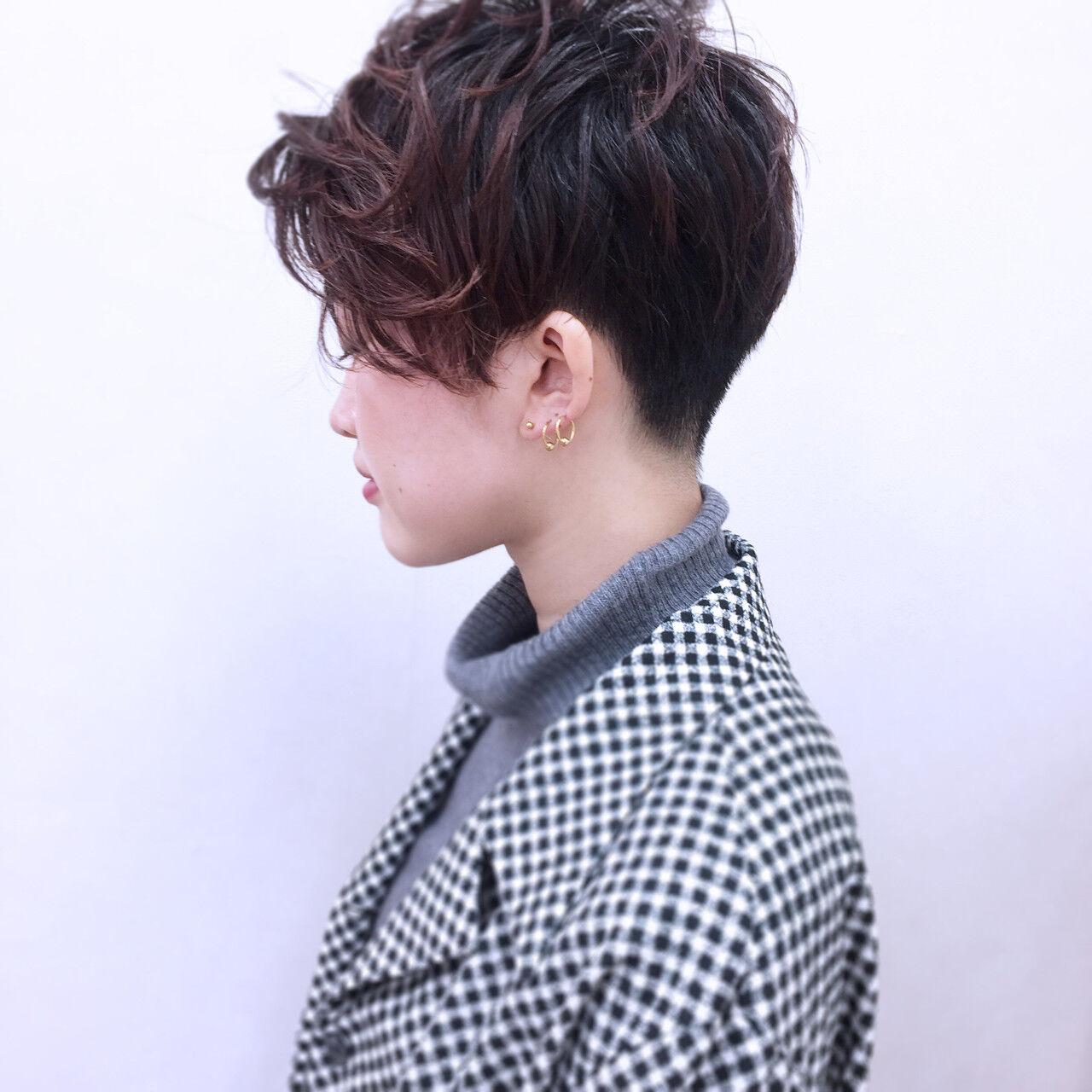 ストリート 大人女子 暗髪 ウェットヘアヘアスタイルや髪型の写真・画像