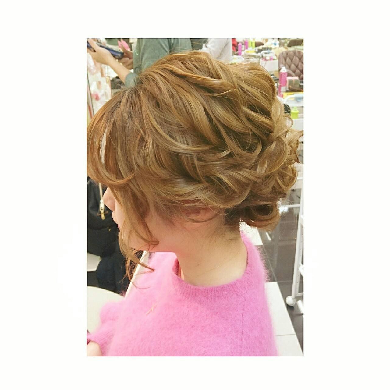 簡単ヘアアレンジ 大人かわいい ショート 大人女子ヘアスタイルや髪型の写真・画像