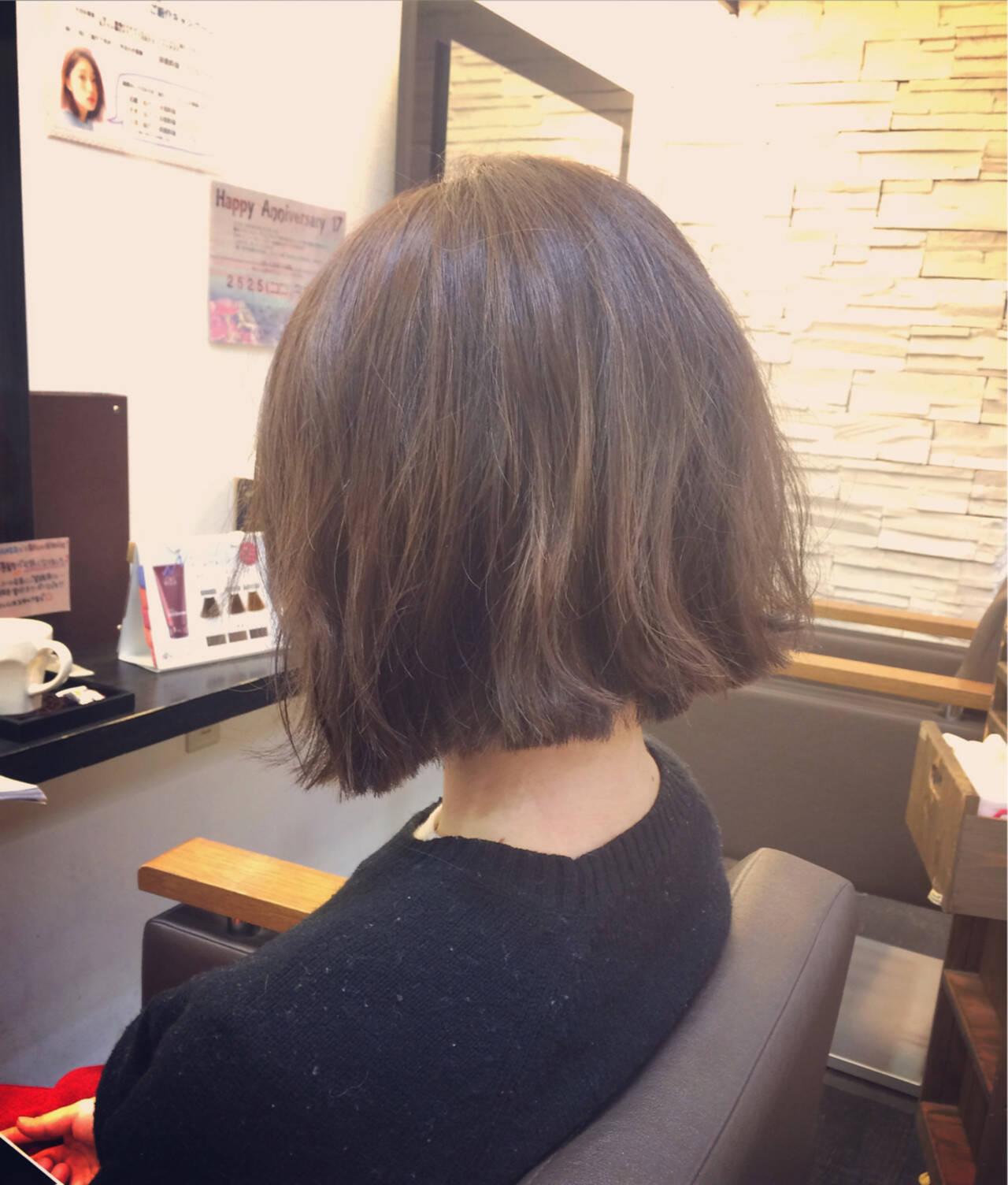 ボブ 暗髪 ストリート 大人かわいいヘアスタイルや髪型の写真・画像