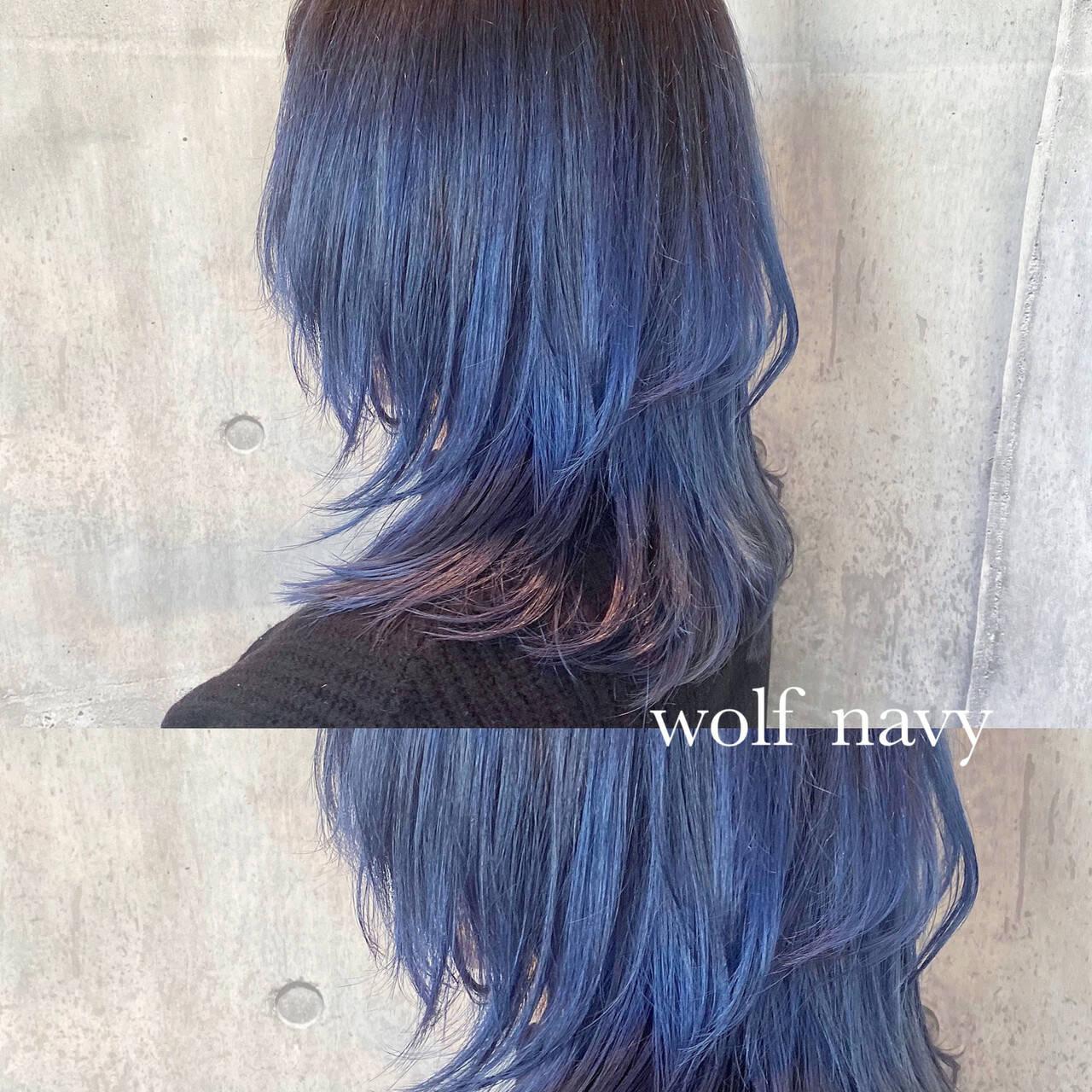 ミディアム ストリート ウルフ ウルフカットヘアスタイルや髪型の写真・画像