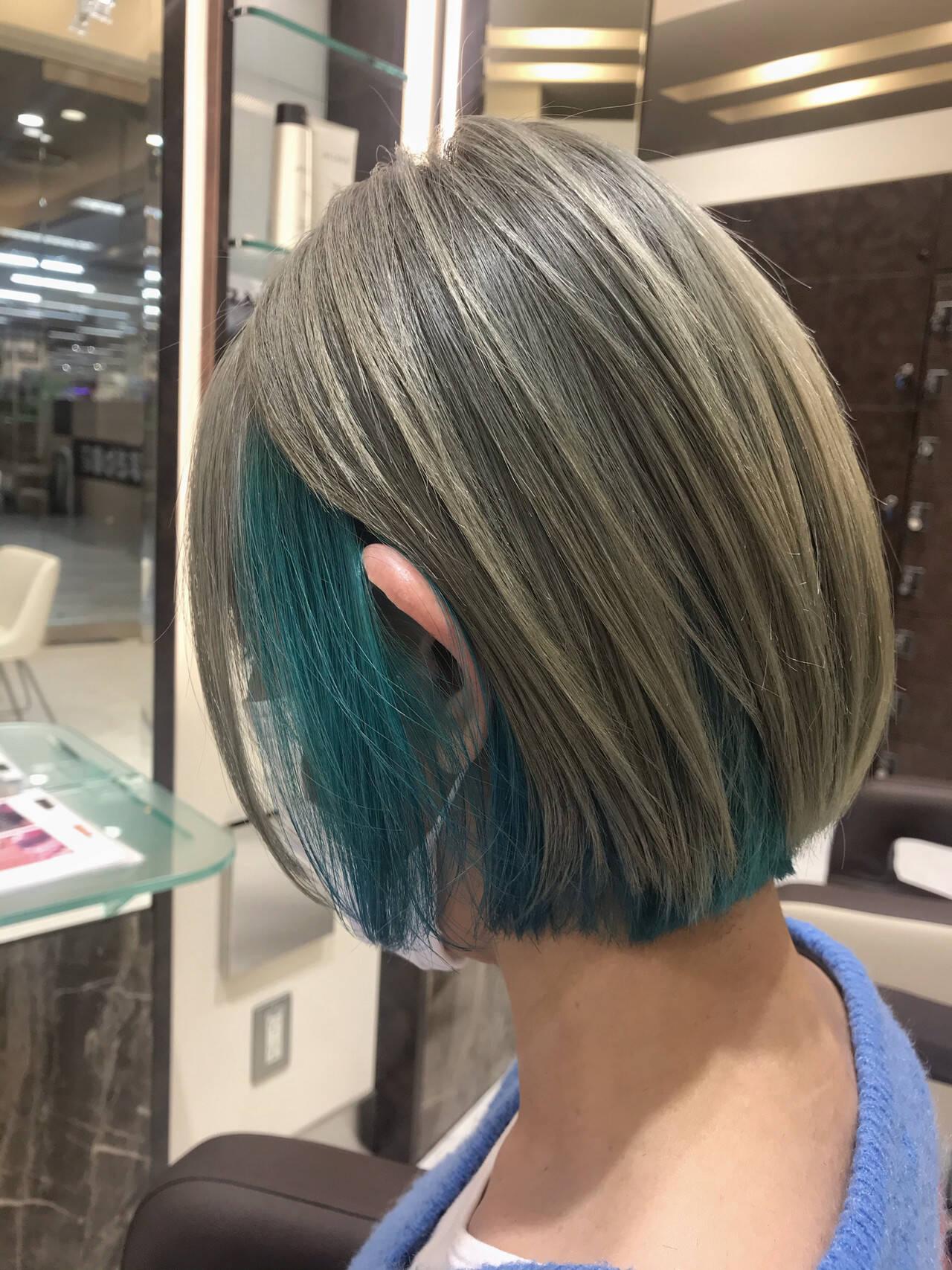 ショートヘア ショート ストリート ミニボブヘアスタイルや髪型の写真・画像