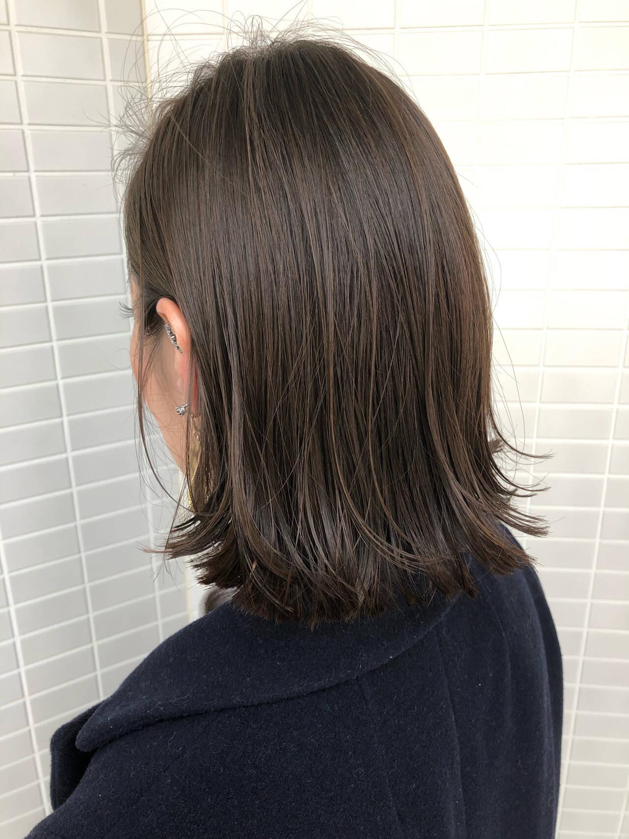 ワンレングス 切りっぱなしボブ モード ボブヘアスタイルや髪型の写真・画像